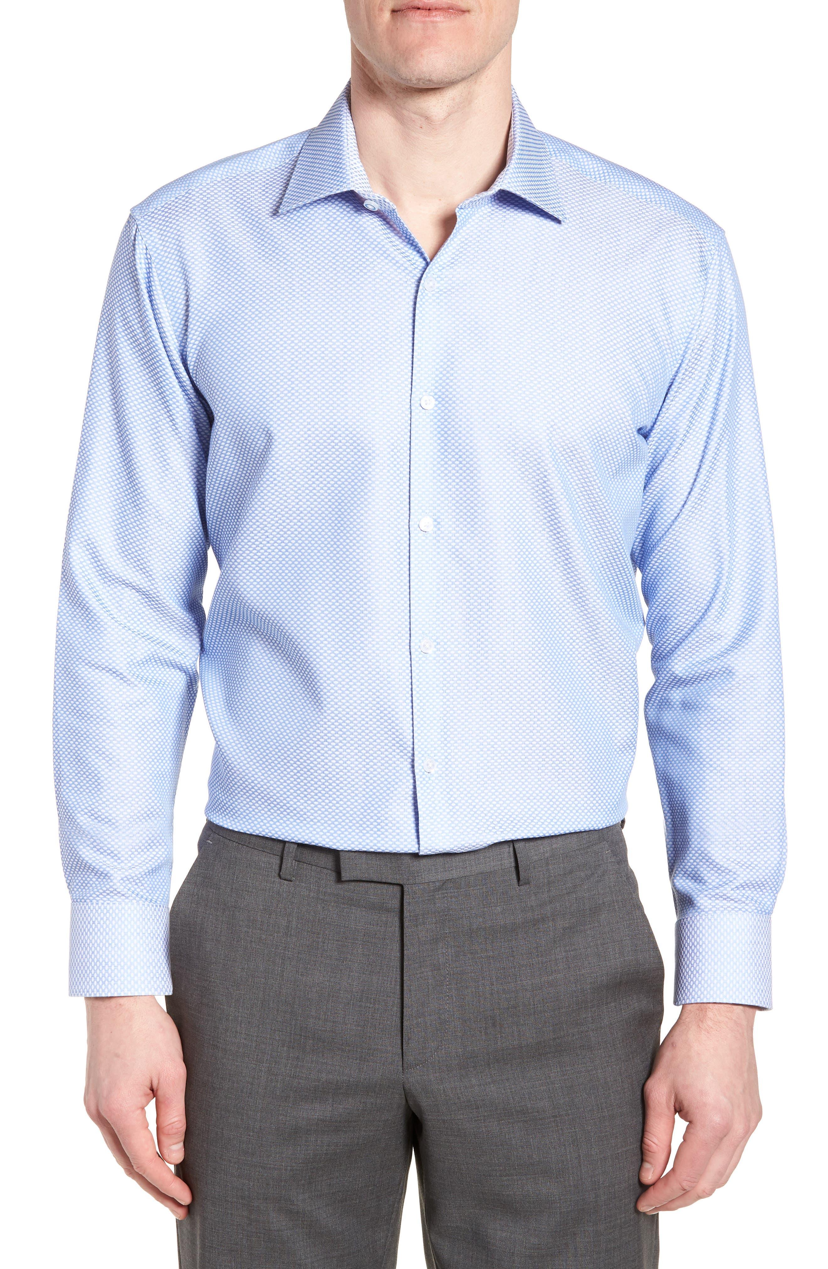 Holmes Trim Fit Dot Dress Shirt,                             Main thumbnail 1, color,                             450