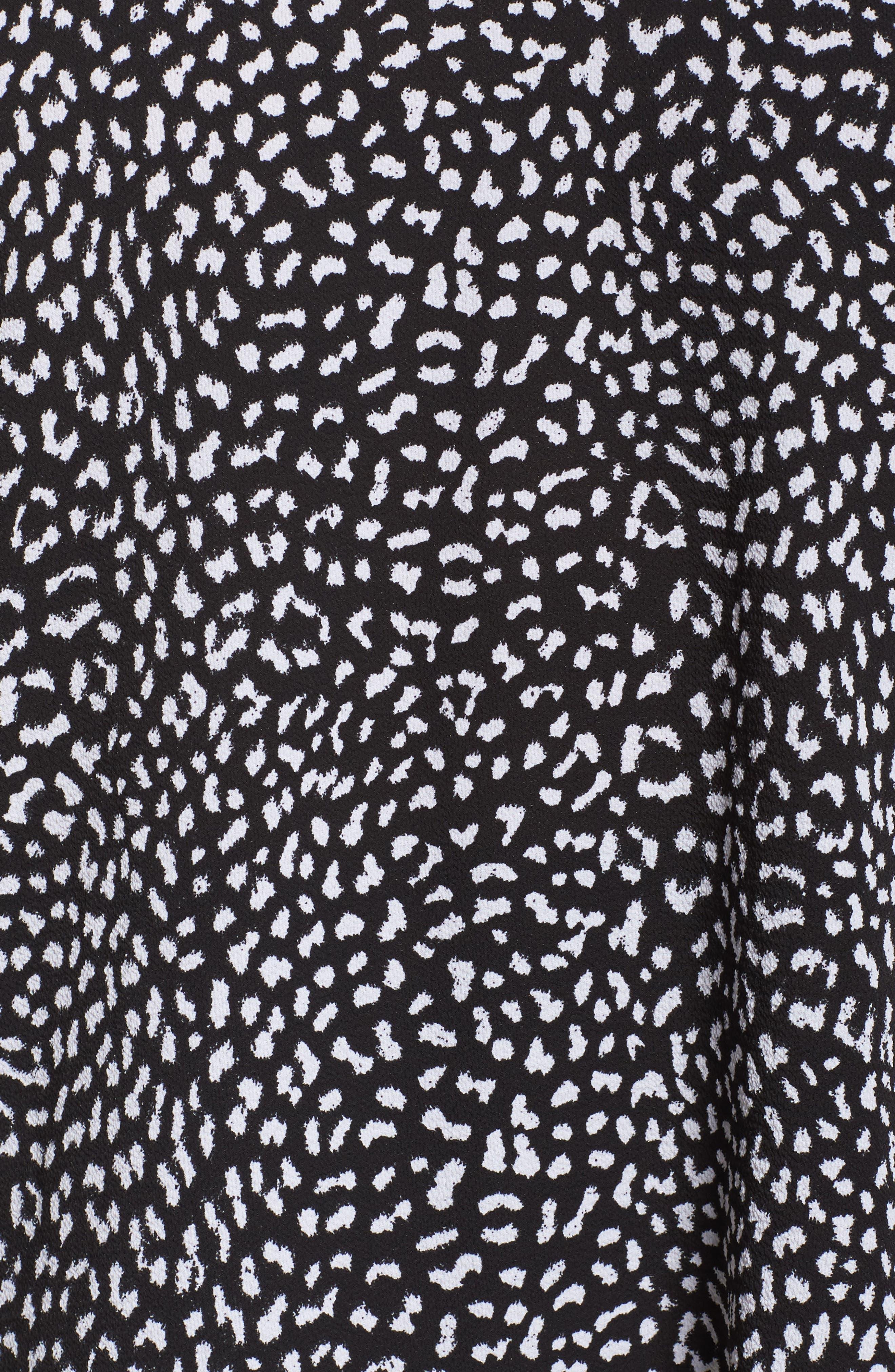Lace Yoke Pleated Back Top,                             Alternate thumbnail 5, color,                             001
