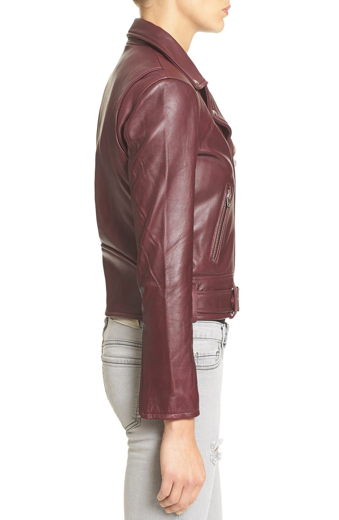 IRO,                             'Gant' Belted Leather Jacket,                             Alternate thumbnail 3, color,                             950