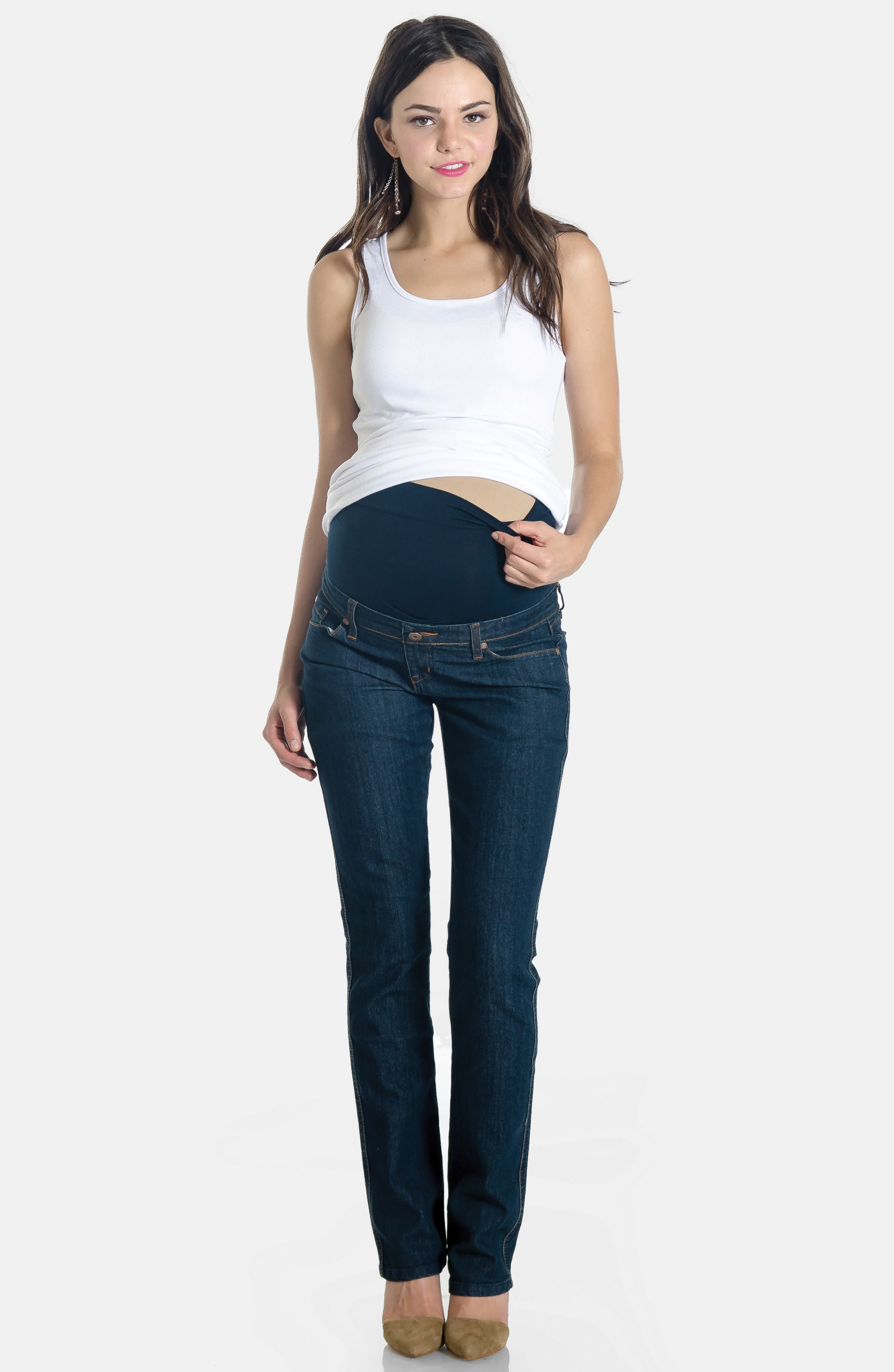 Maternity Jeans,                             Alternate thumbnail 5, color,                             400