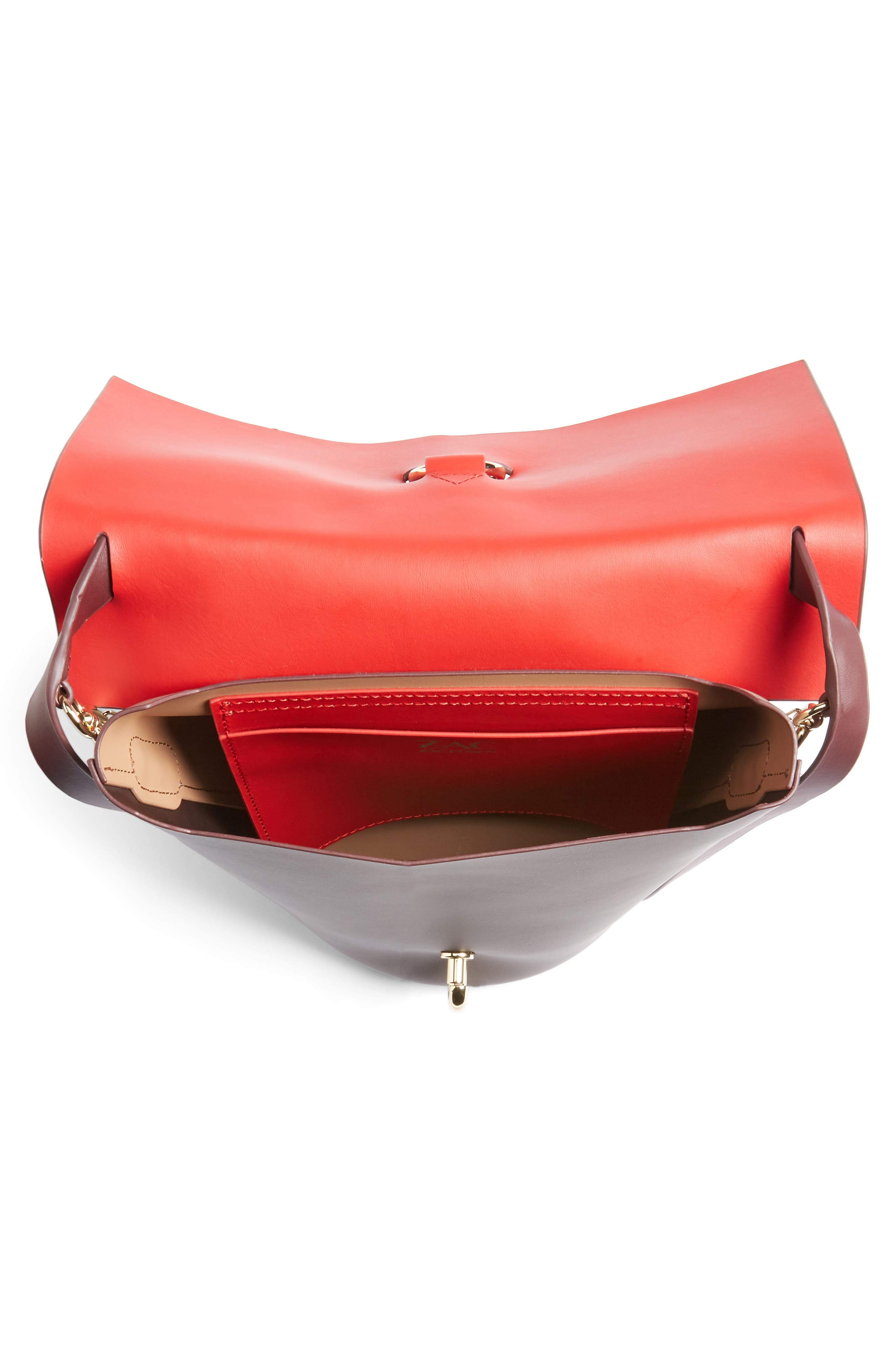 Belay Colorblock Leather Crossbody Bag,                             Alternate thumbnail 8, color,