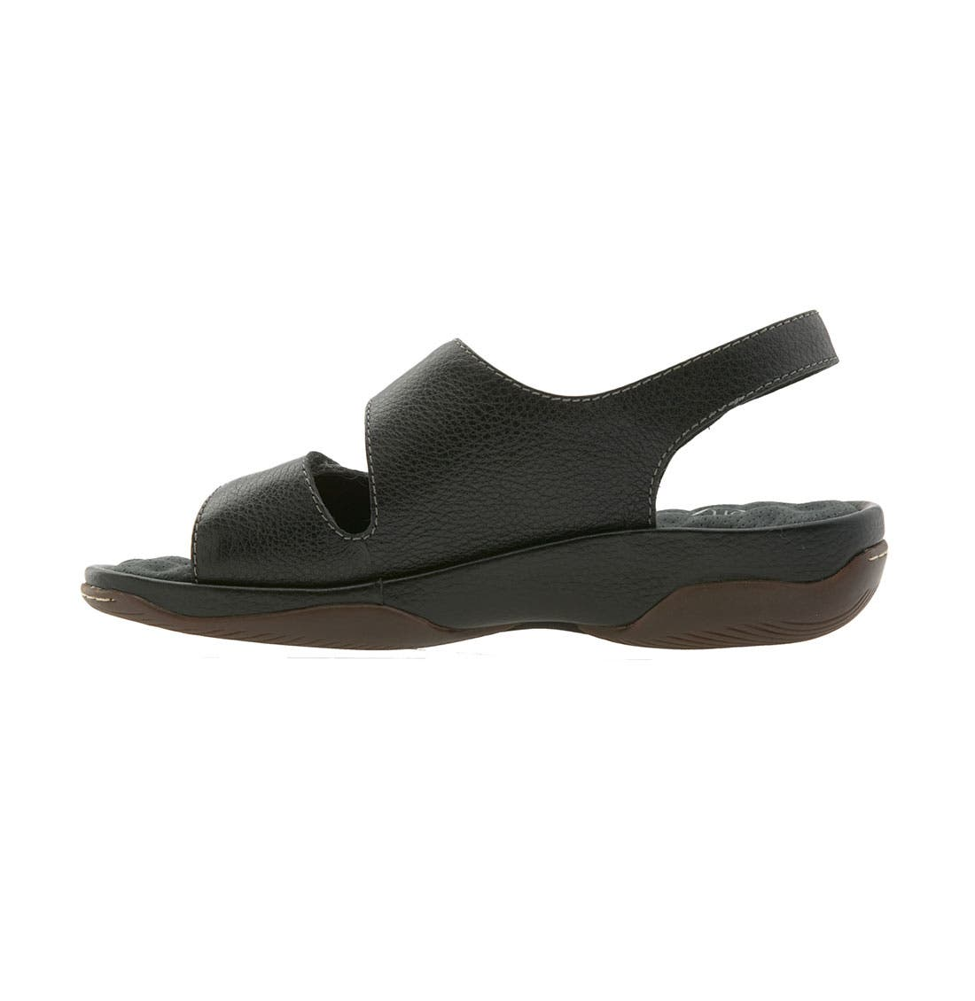 'Bolivia' Sandal,                             Alternate thumbnail 4, color,                             BLACK