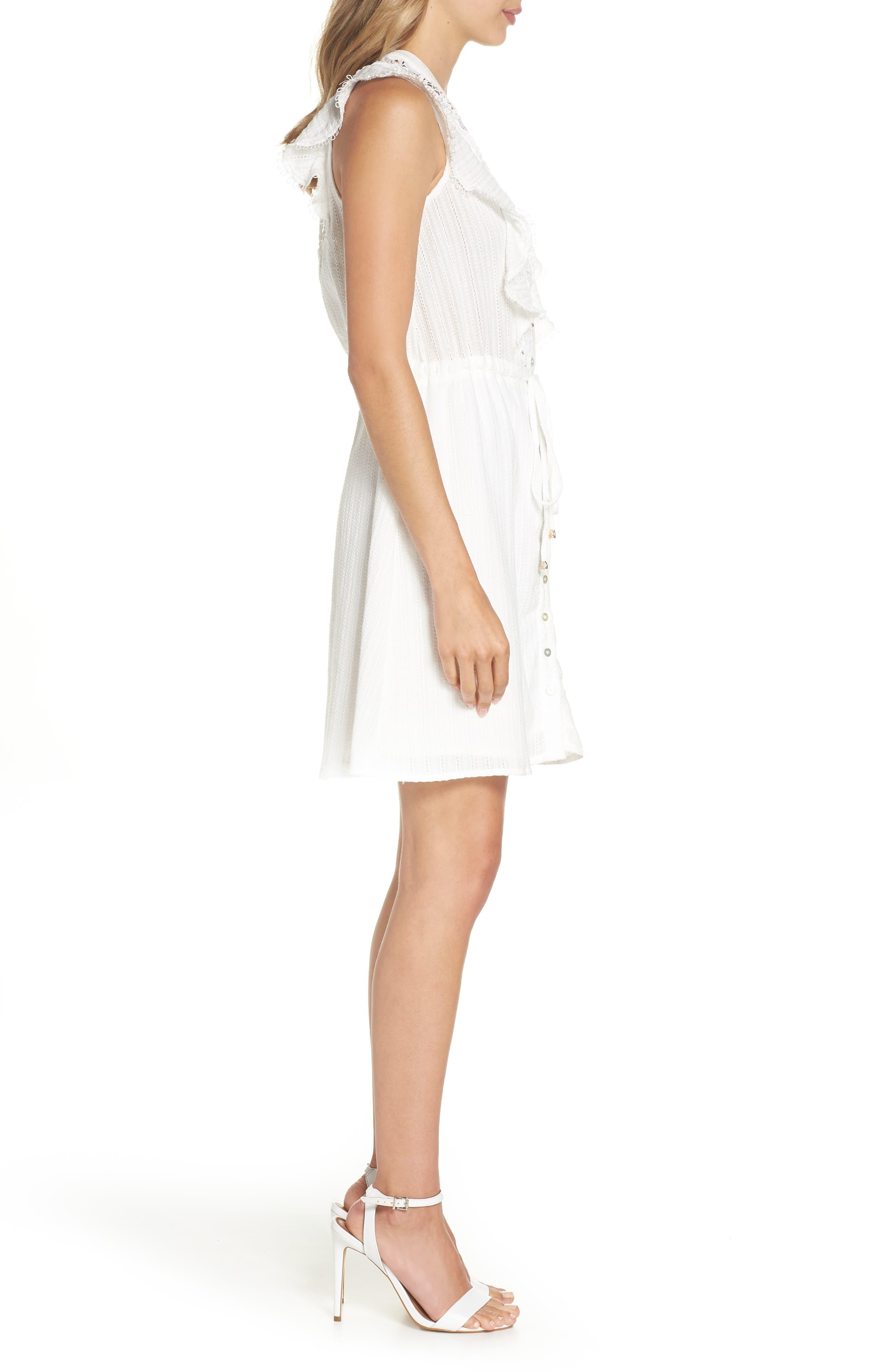 Oli Ruffle Lace Dress,                             Alternate thumbnail 3, color,