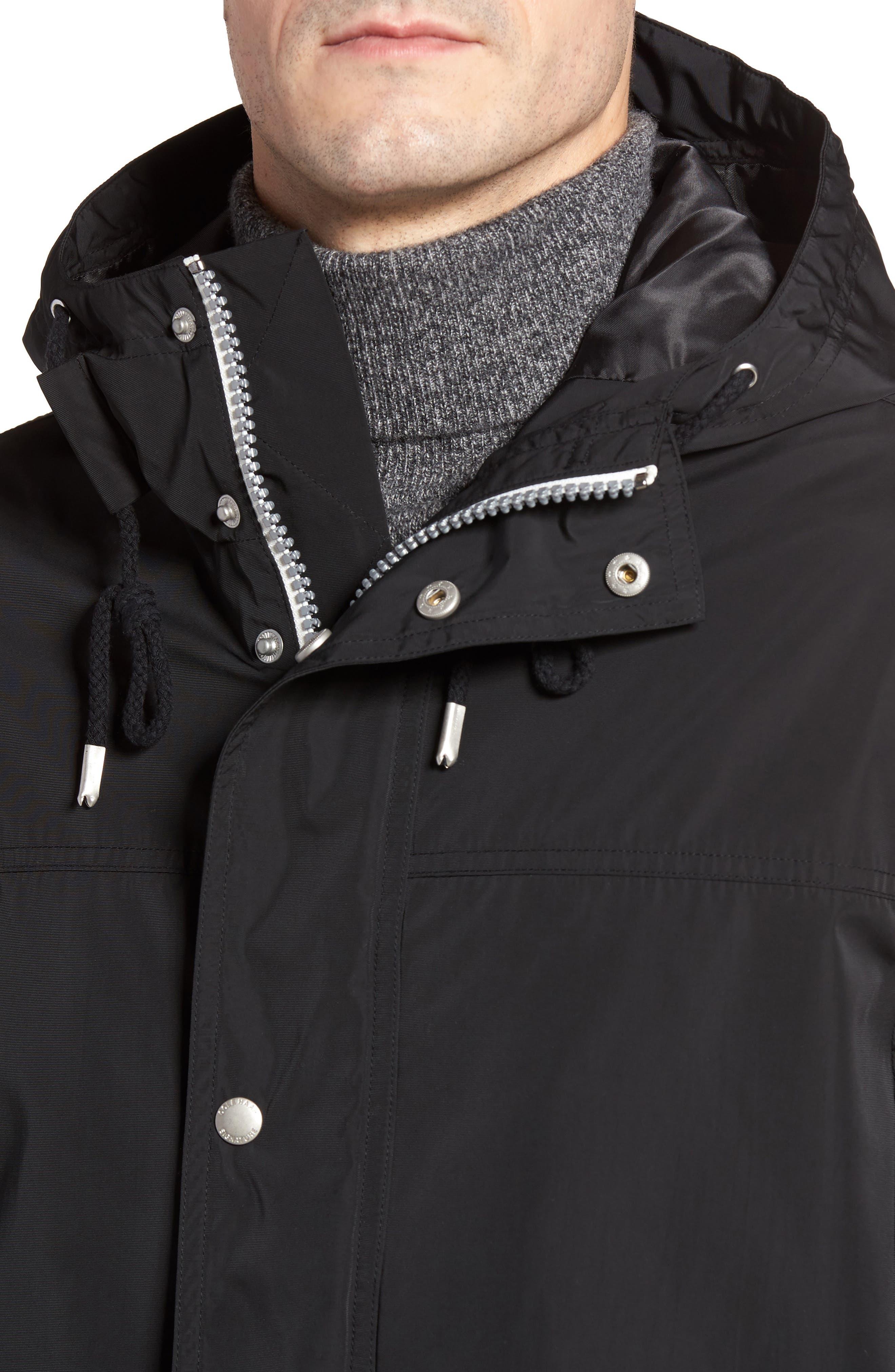 Packable Hooded Rain Jacket,                             Alternate thumbnail 4, color,                             001