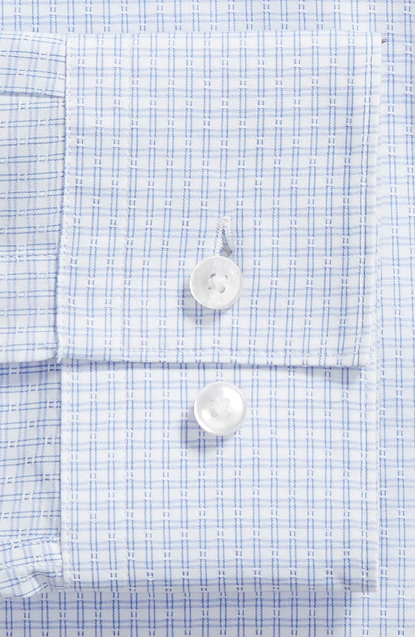 Isko Slim Fit Stretch Check Dress Shirt,                             Alternate thumbnail 6, color,                             450