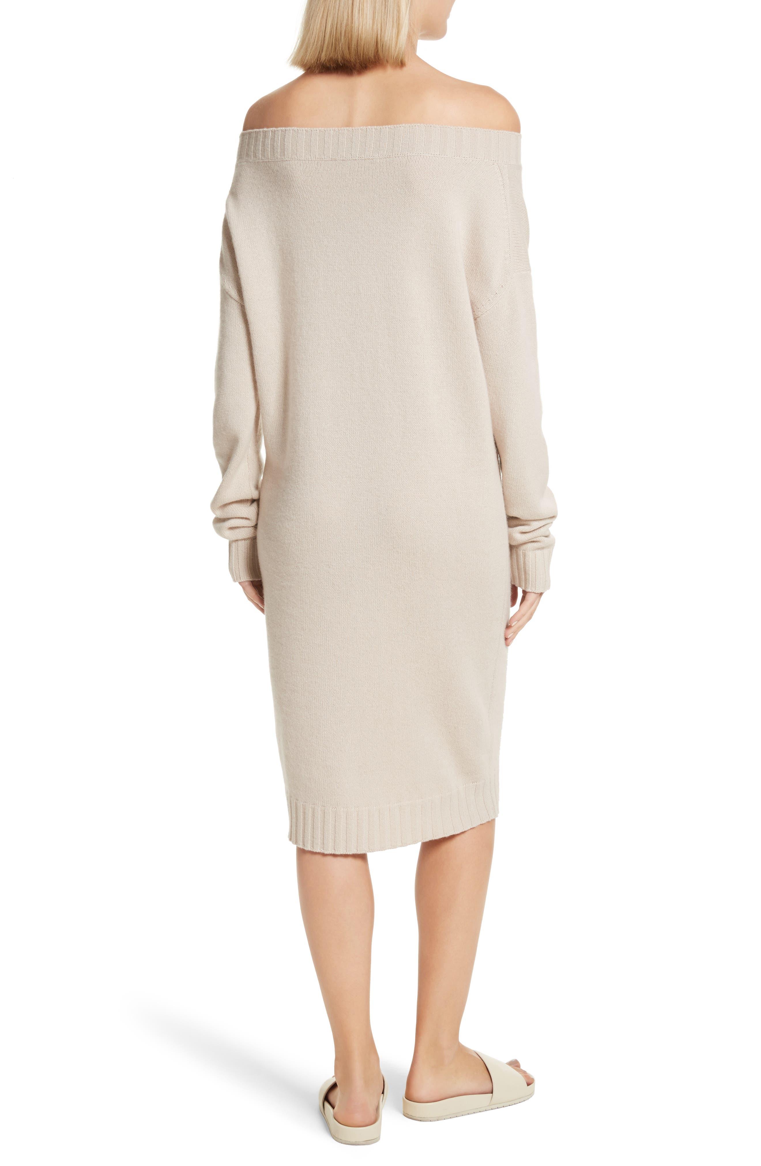 Cold Shoulder Wool & Cashmere Sweater Dress,                             Alternate thumbnail 4, color,