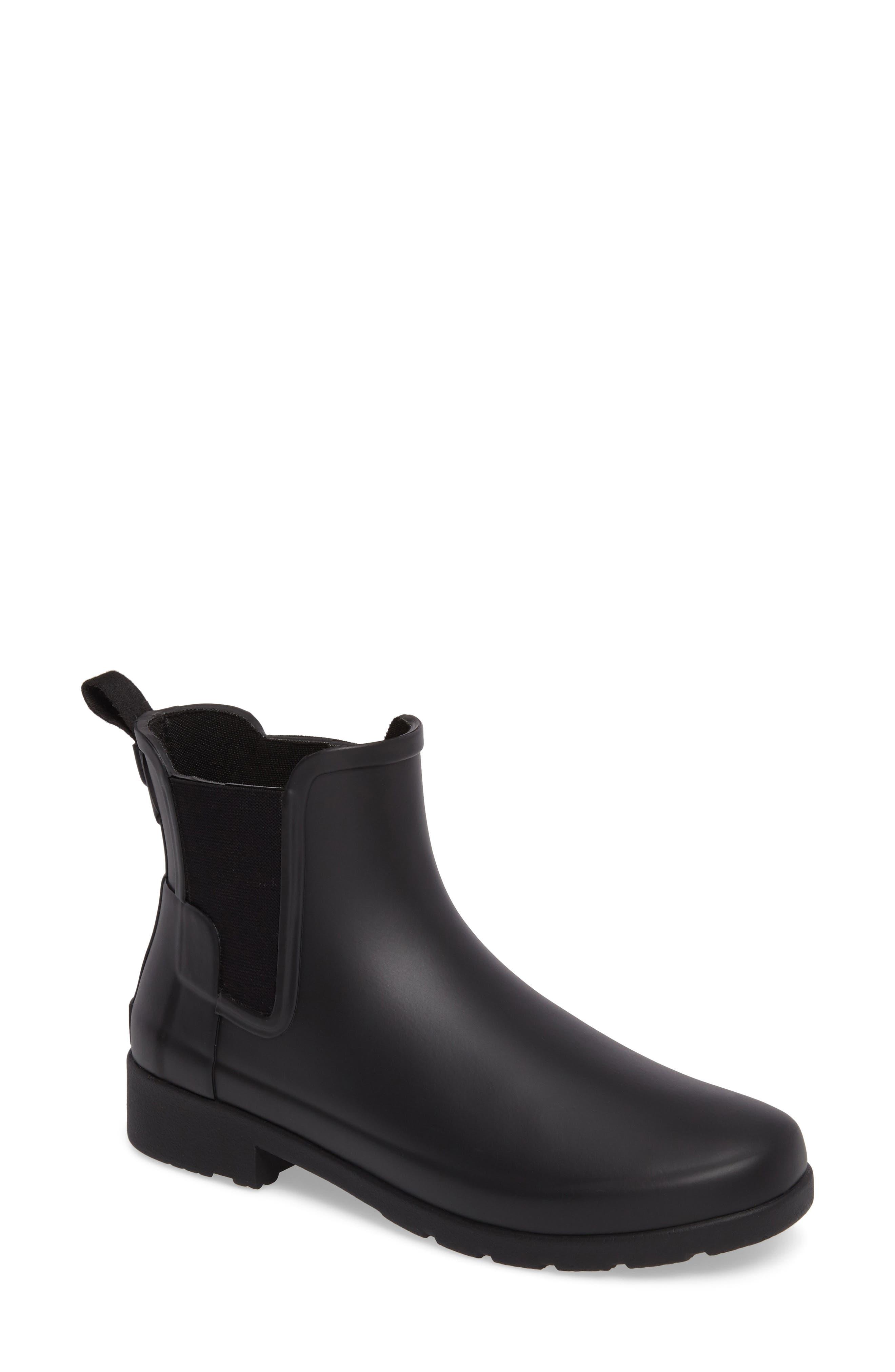 Refined Chelsea Boot,                             Main thumbnail 1, color,                             BLACK