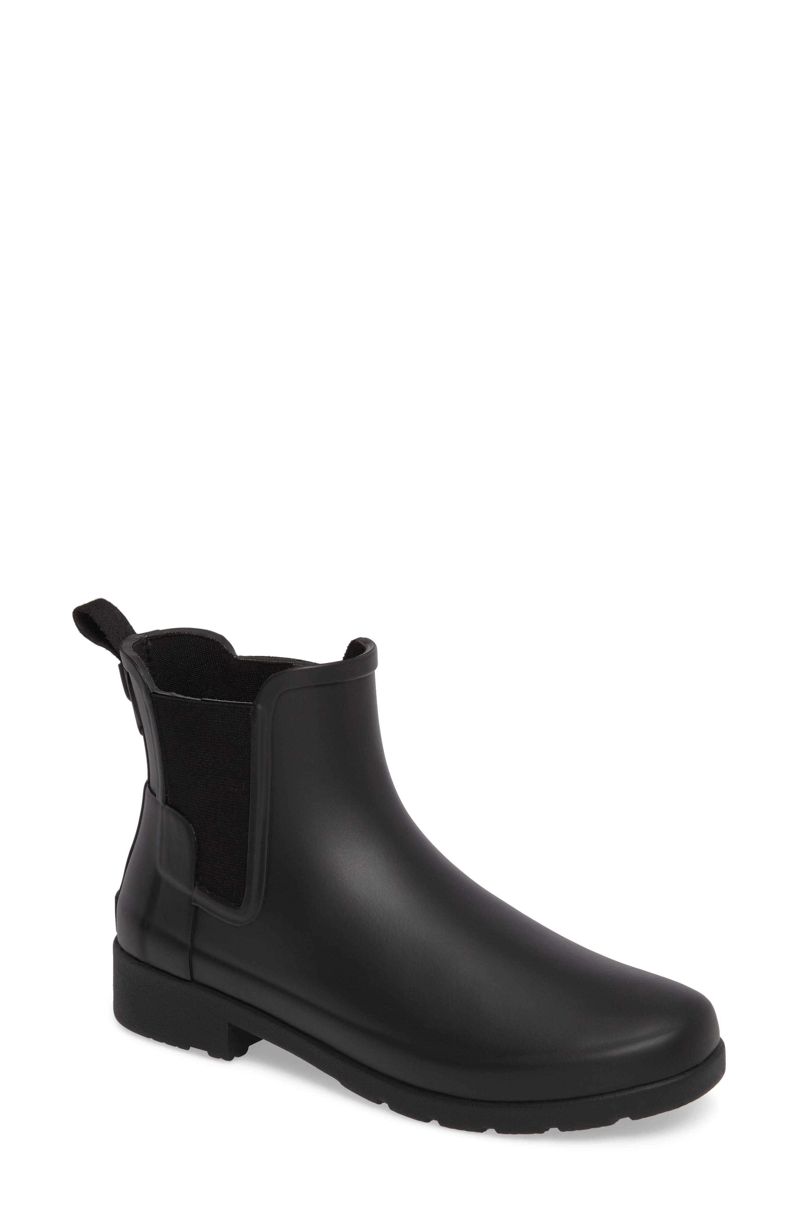 Refined Chelsea Boot,                         Main,                         color, BLACK
