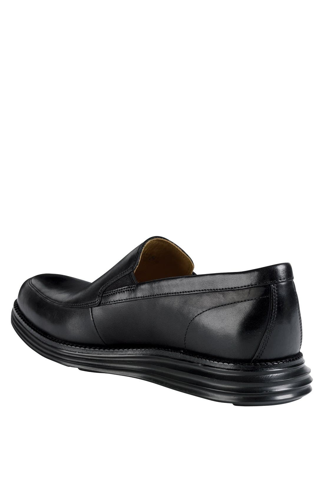 COLE HAAN,                             'LunarGrand' Apron Toe Loafer,                             Alternate thumbnail 2, color,                             001