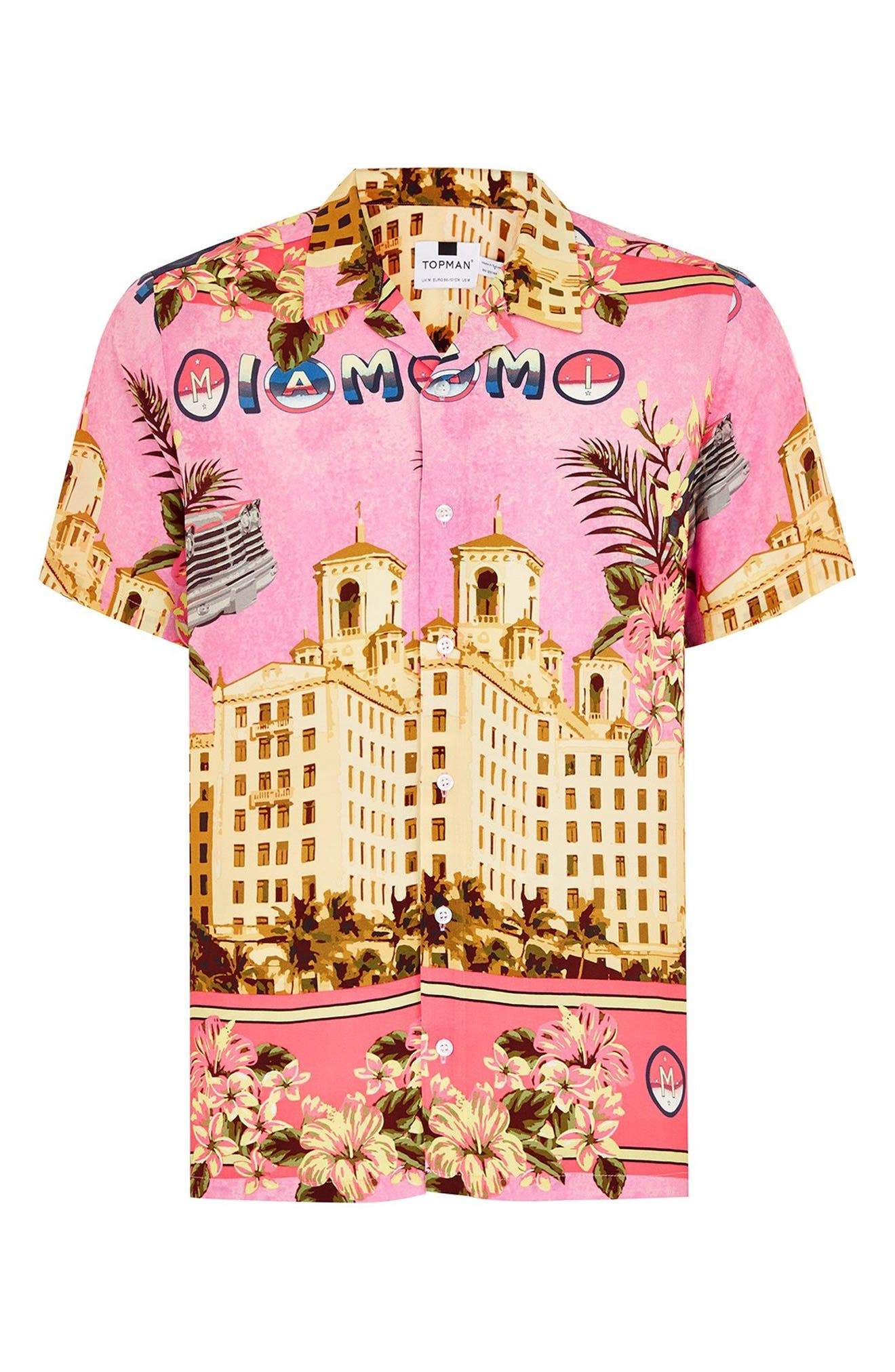 Miami Short Sleeve Classic Fit Shirt,                             Alternate thumbnail 4, color,                             650