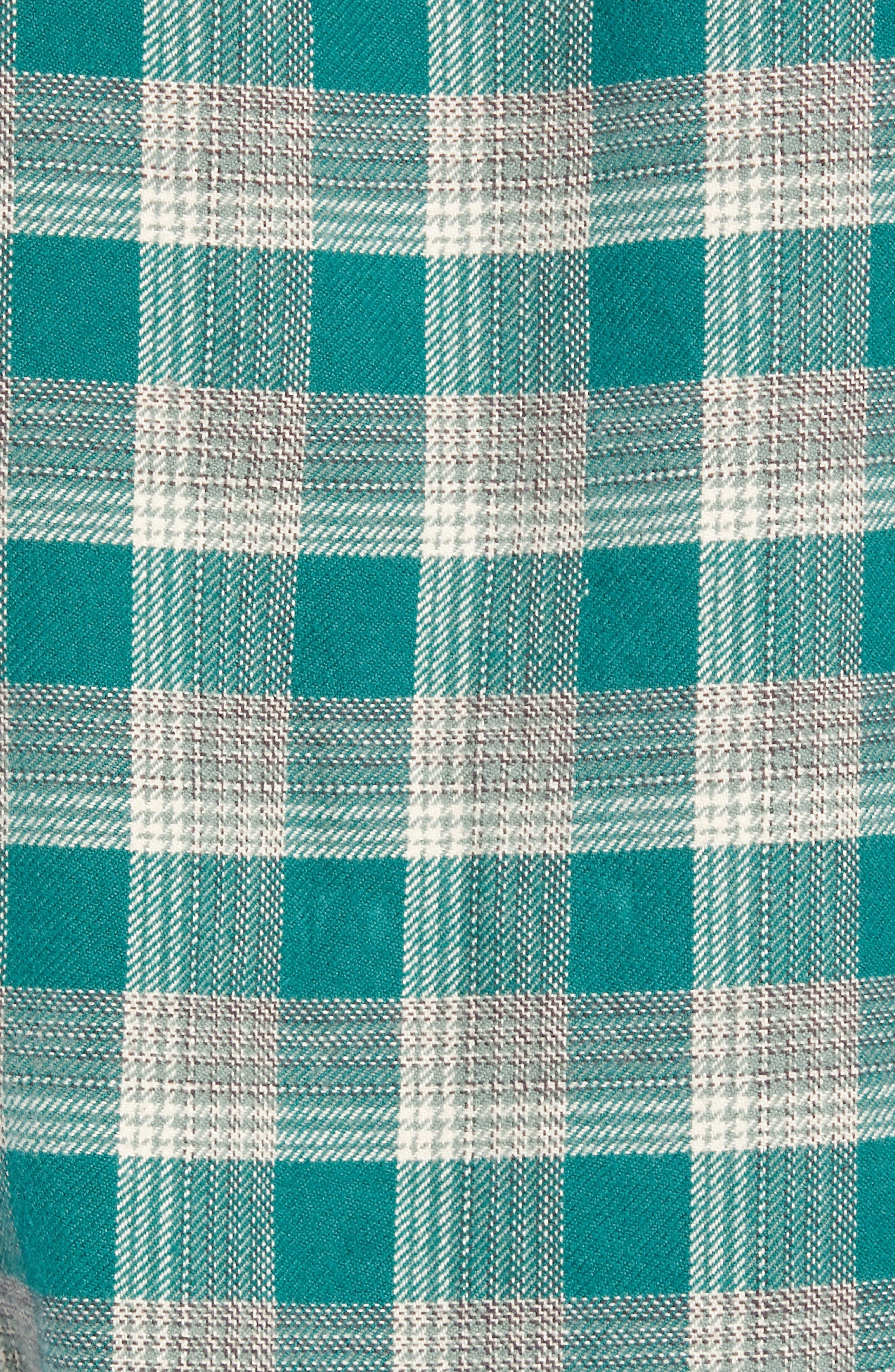 The Heavyweight Flannel Workshirt,                             Alternate thumbnail 6, color,                             GREEN HALF SHADOW