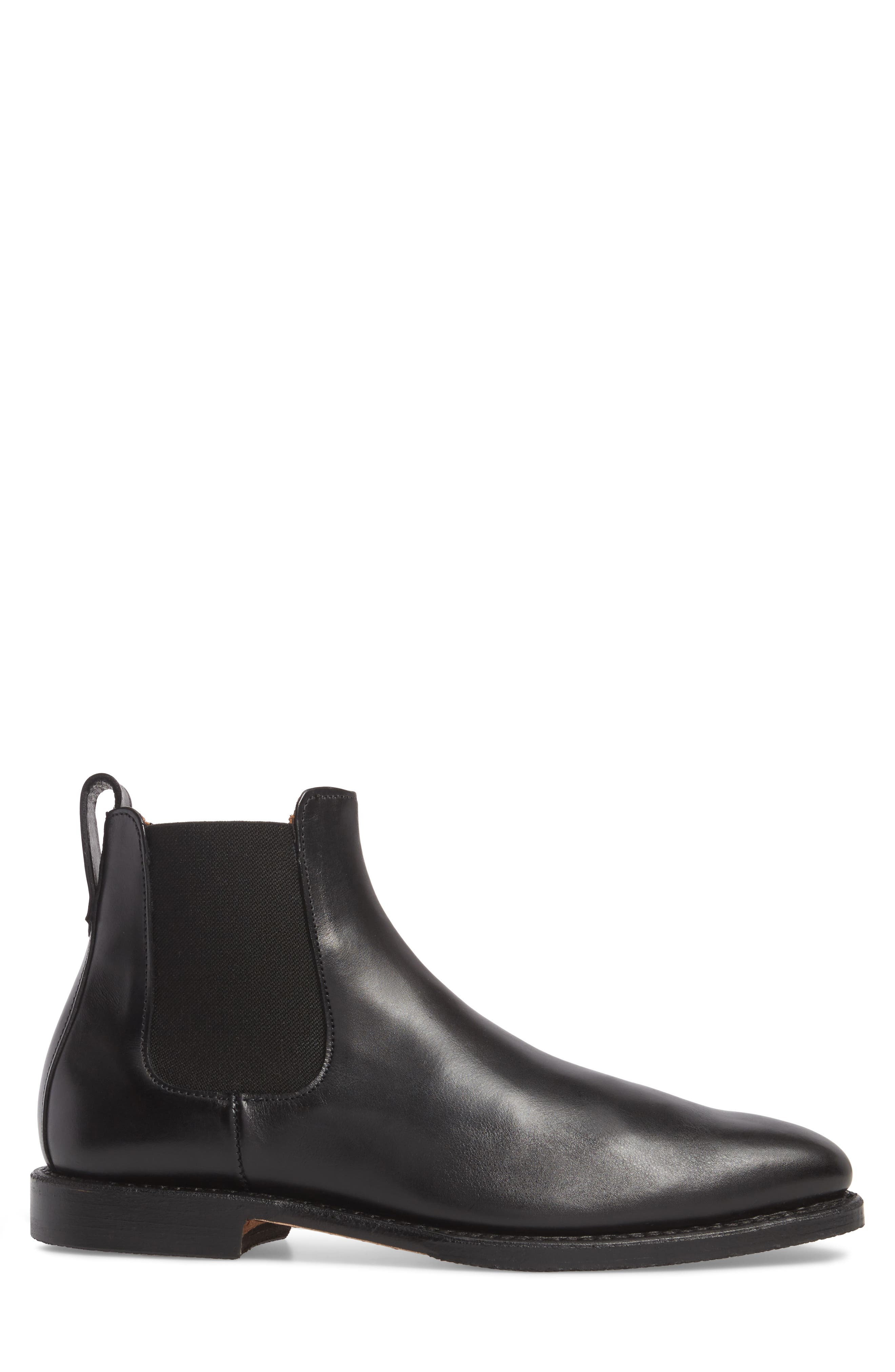'Liverpool' Chelsea Boot,                             Alternate thumbnail 3, color,                             BLACK LEATHER