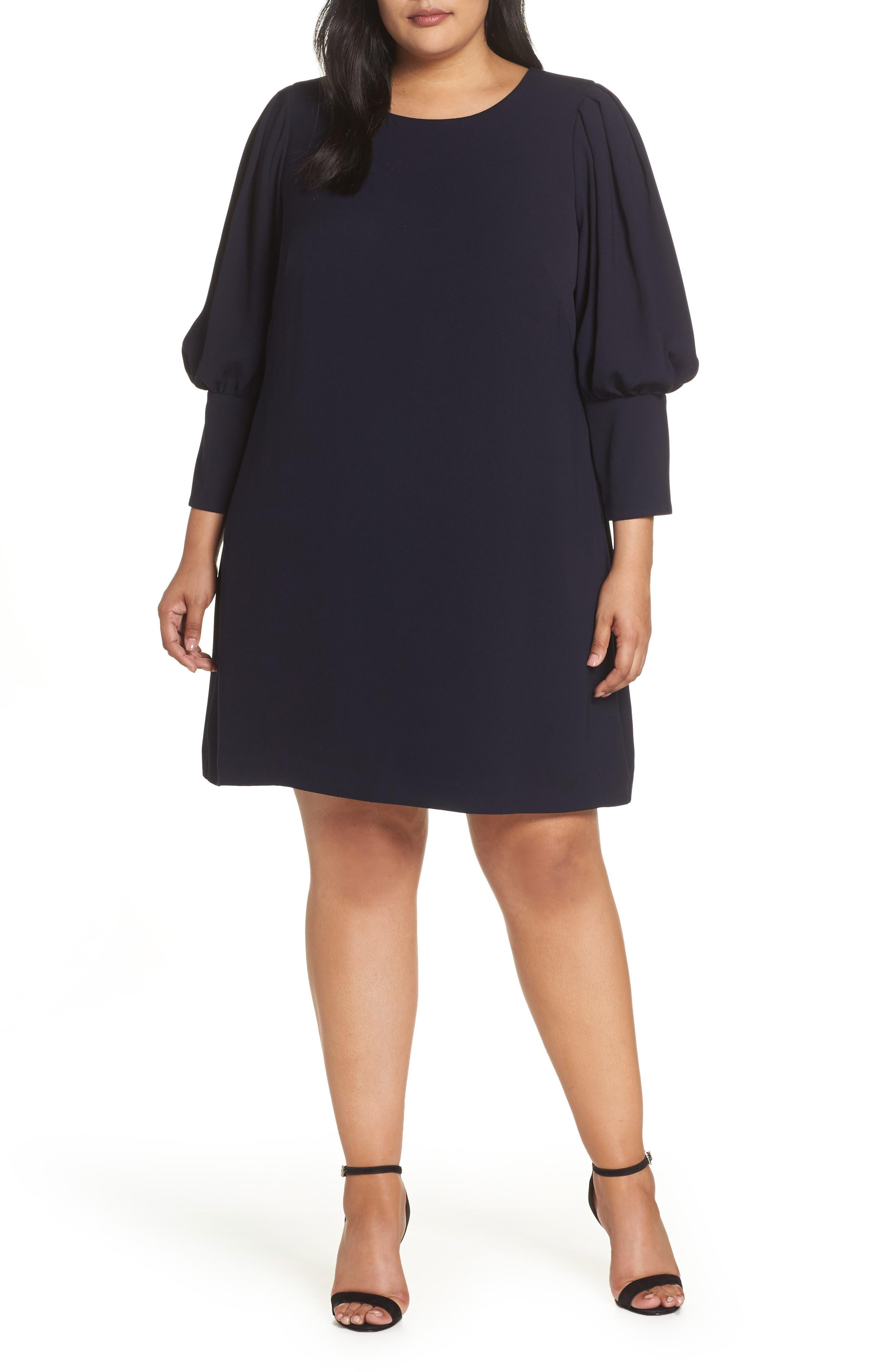 Plus Size Eliza J Balloon Sleeve Shift Dress
