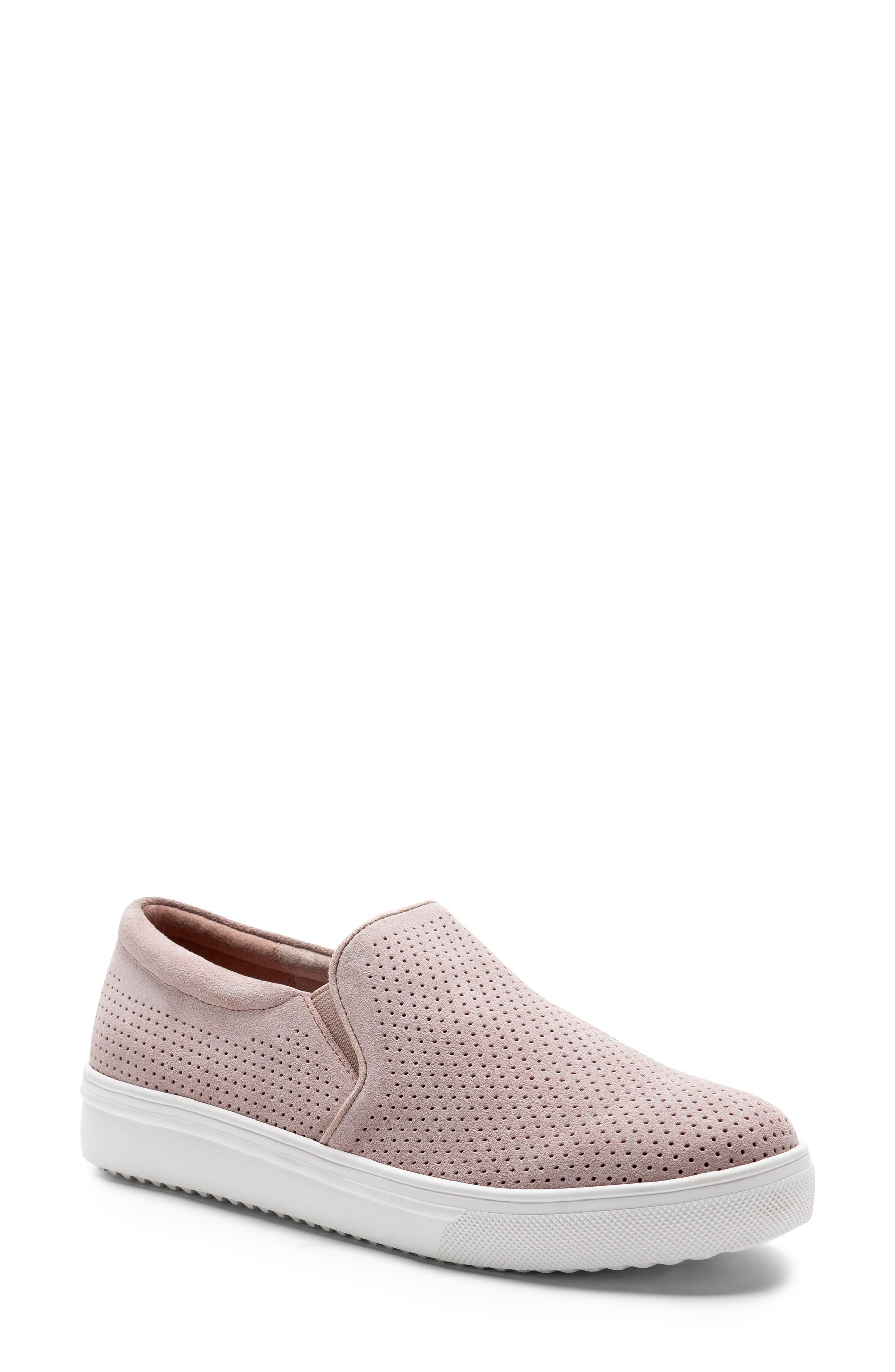 Blondo Gallert Perforated Waterproof Platform Sneaker, Pink