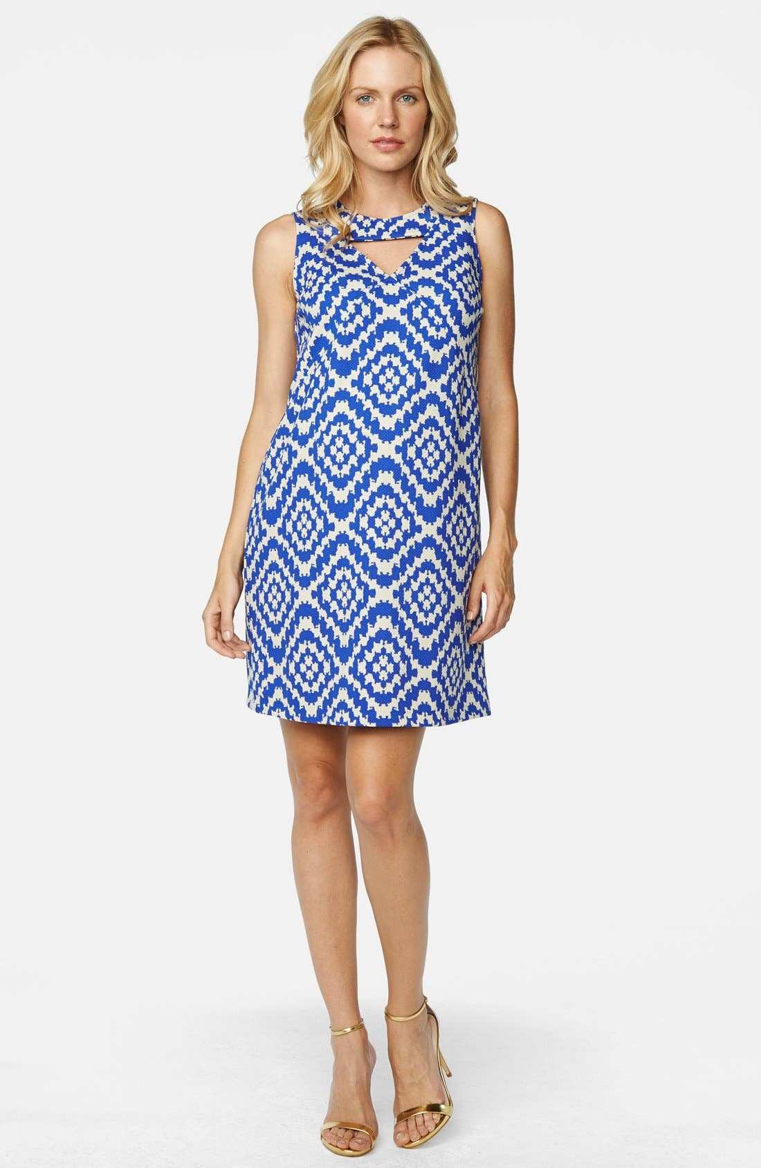 Keyhole Ponte Knit Maternity Dress,                             Main thumbnail 2, color,