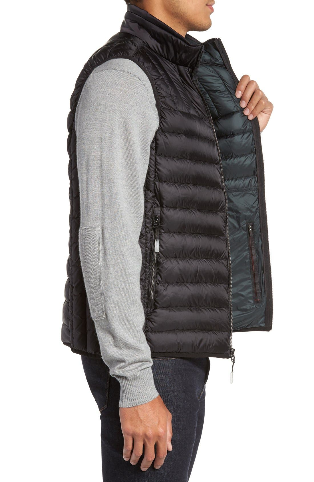 Packable Down Vest,                             Alternate thumbnail 6, color,                             BLACK