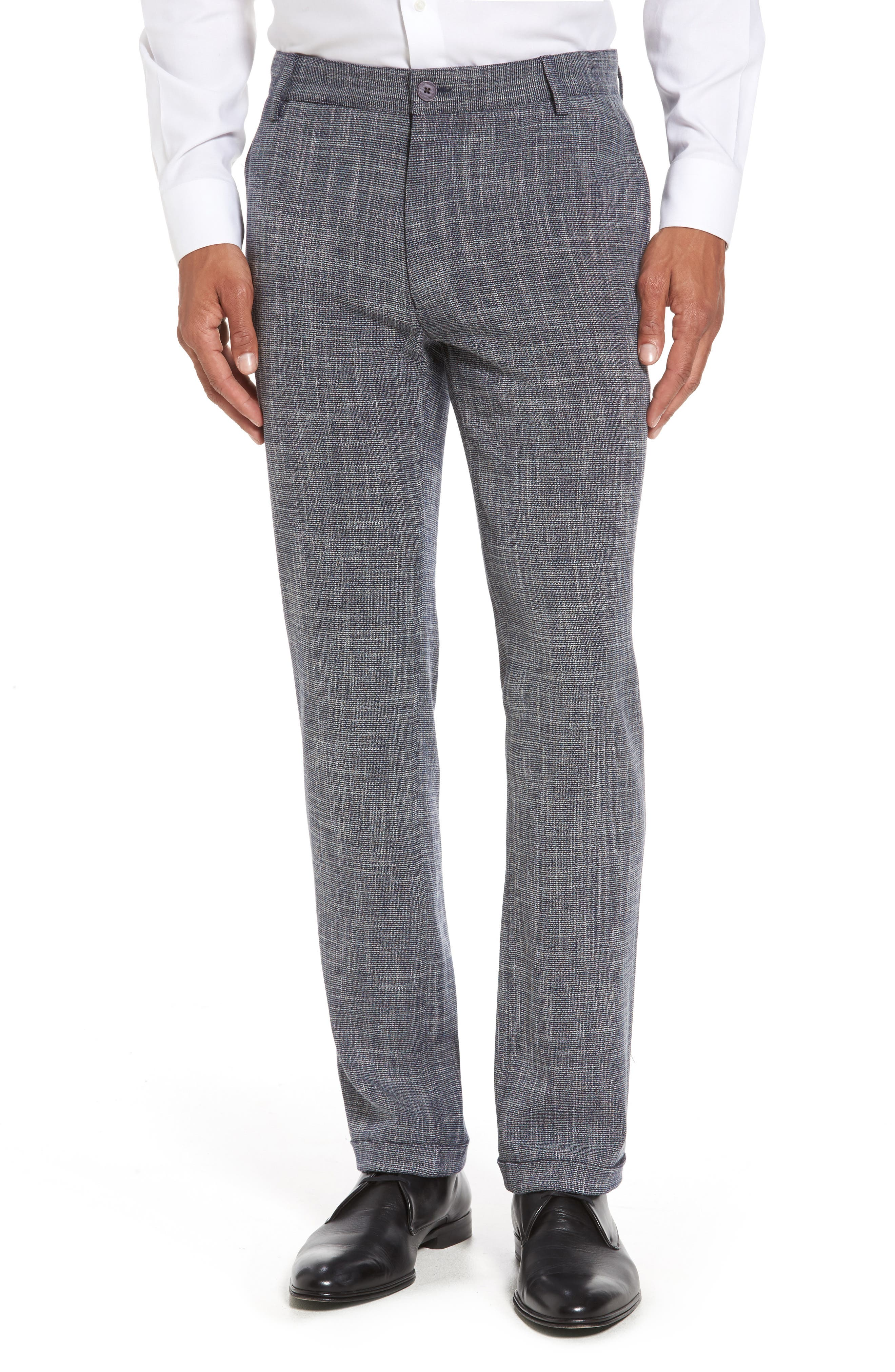 Slim Fit Cuffed Pants,                             Main thumbnail 1, color,                             410