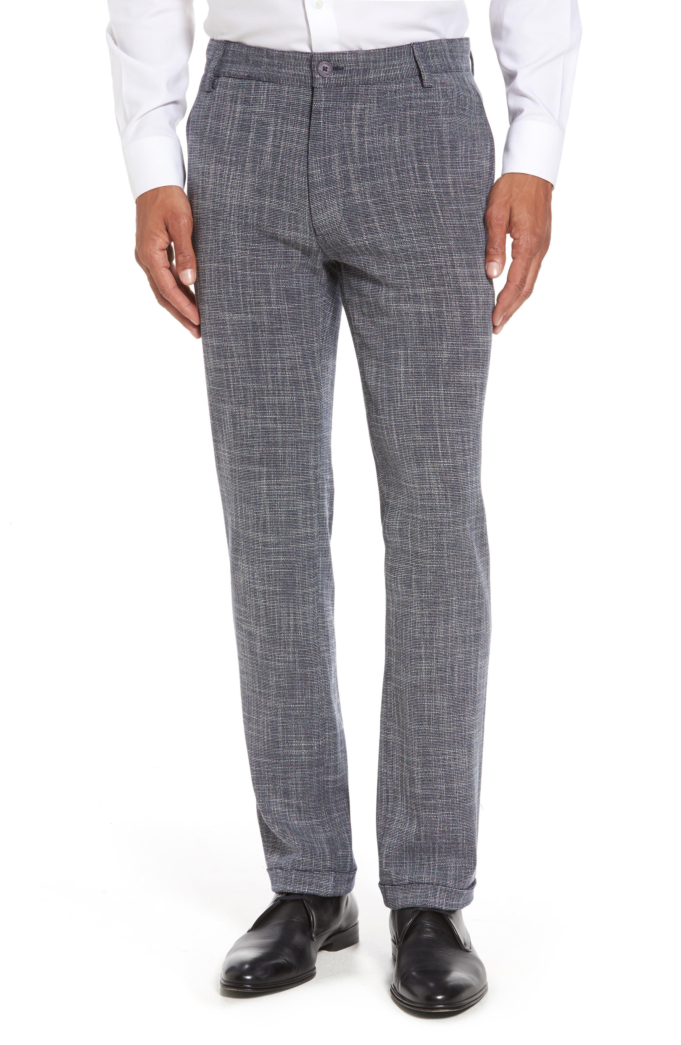 Slim Fit Cuffed Pants,                         Main,                         color, 410