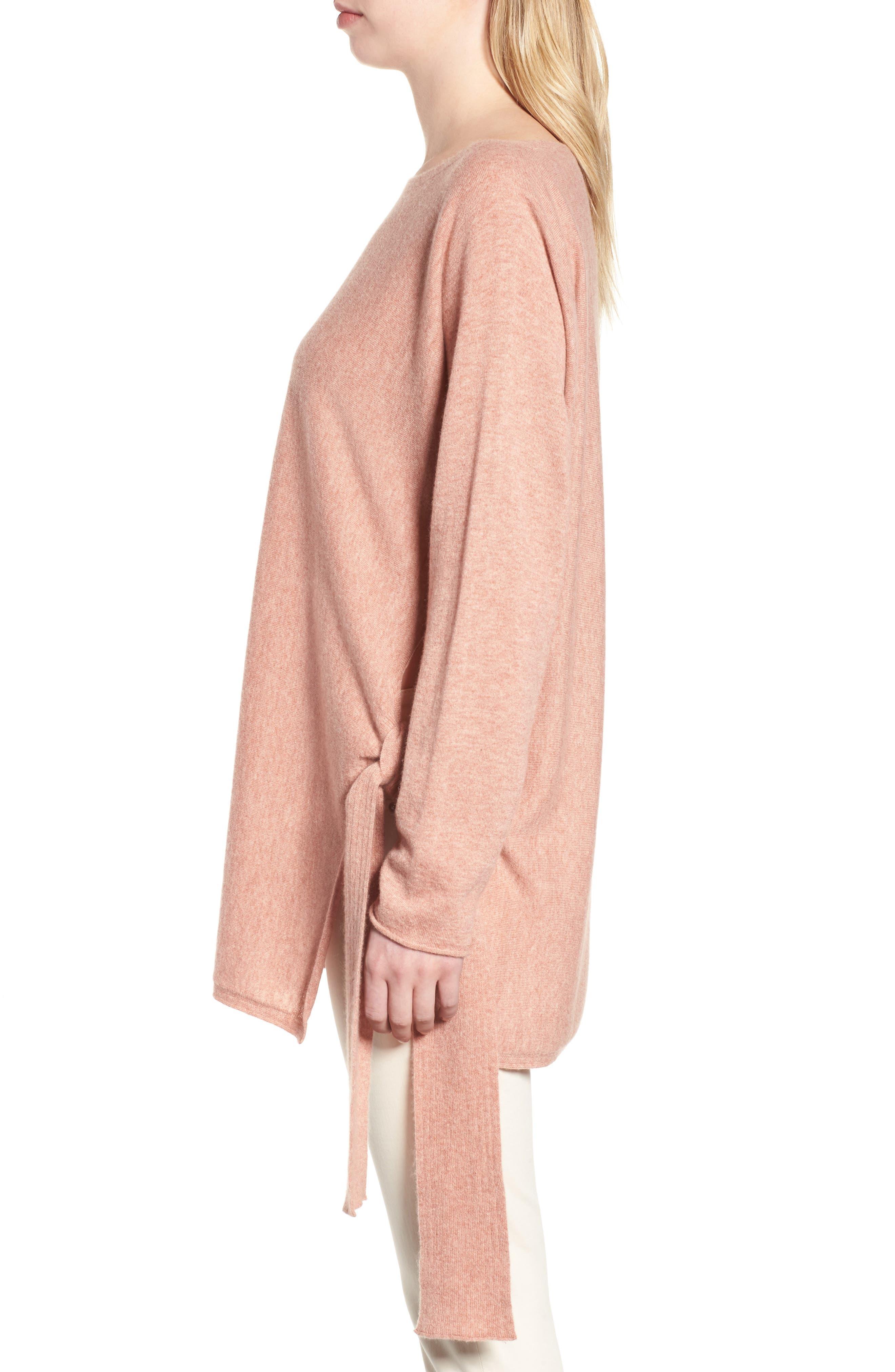 Cashmere Tunic Sweater,                             Alternate thumbnail 6, color,