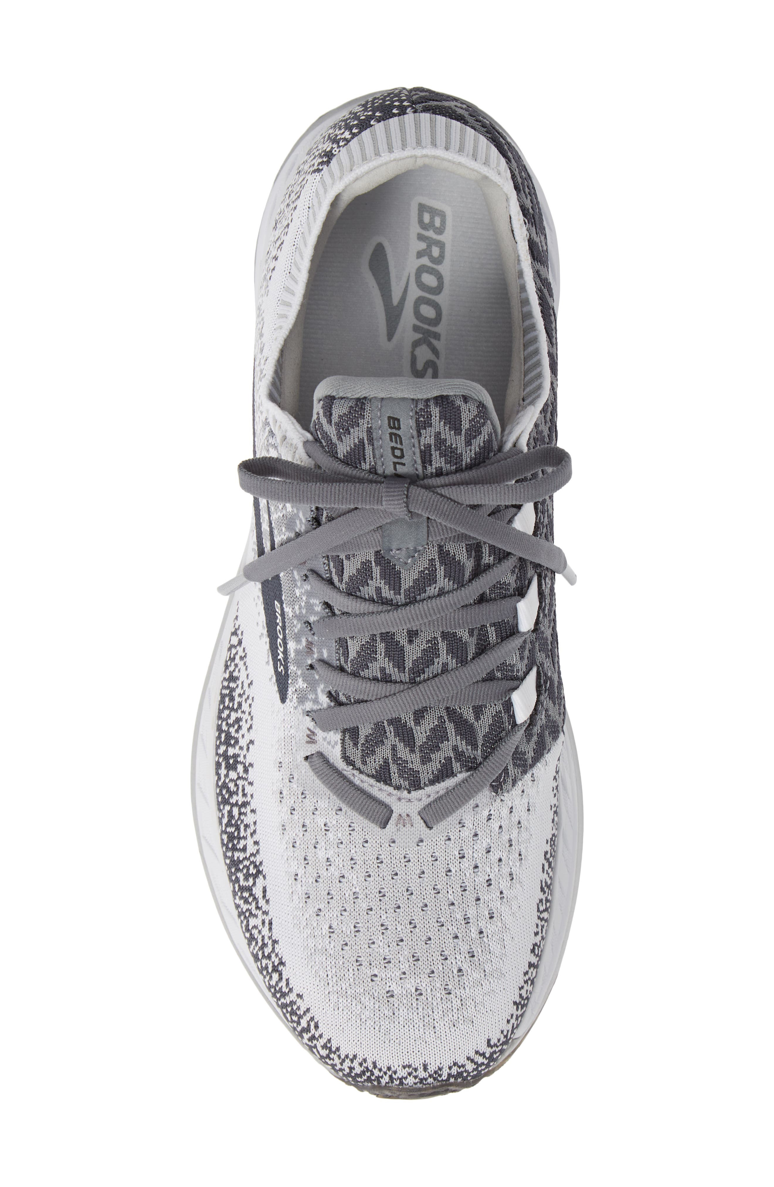 Bedlam Running Shoe,                             Alternate thumbnail 5, color,                             GREY/ WHITE/ EBONY