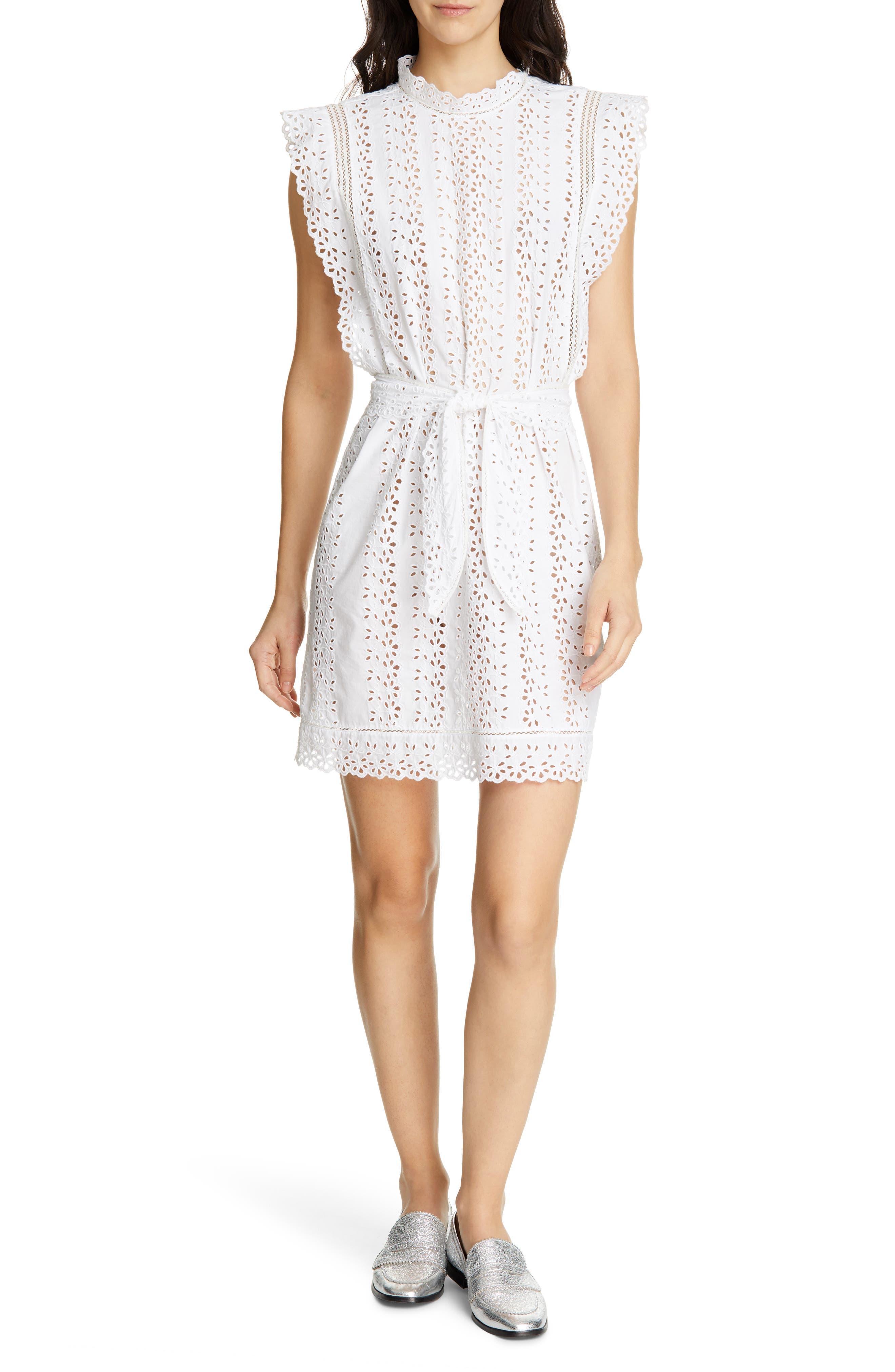 Rebecca Taylor Karina Eyelet Dress, White