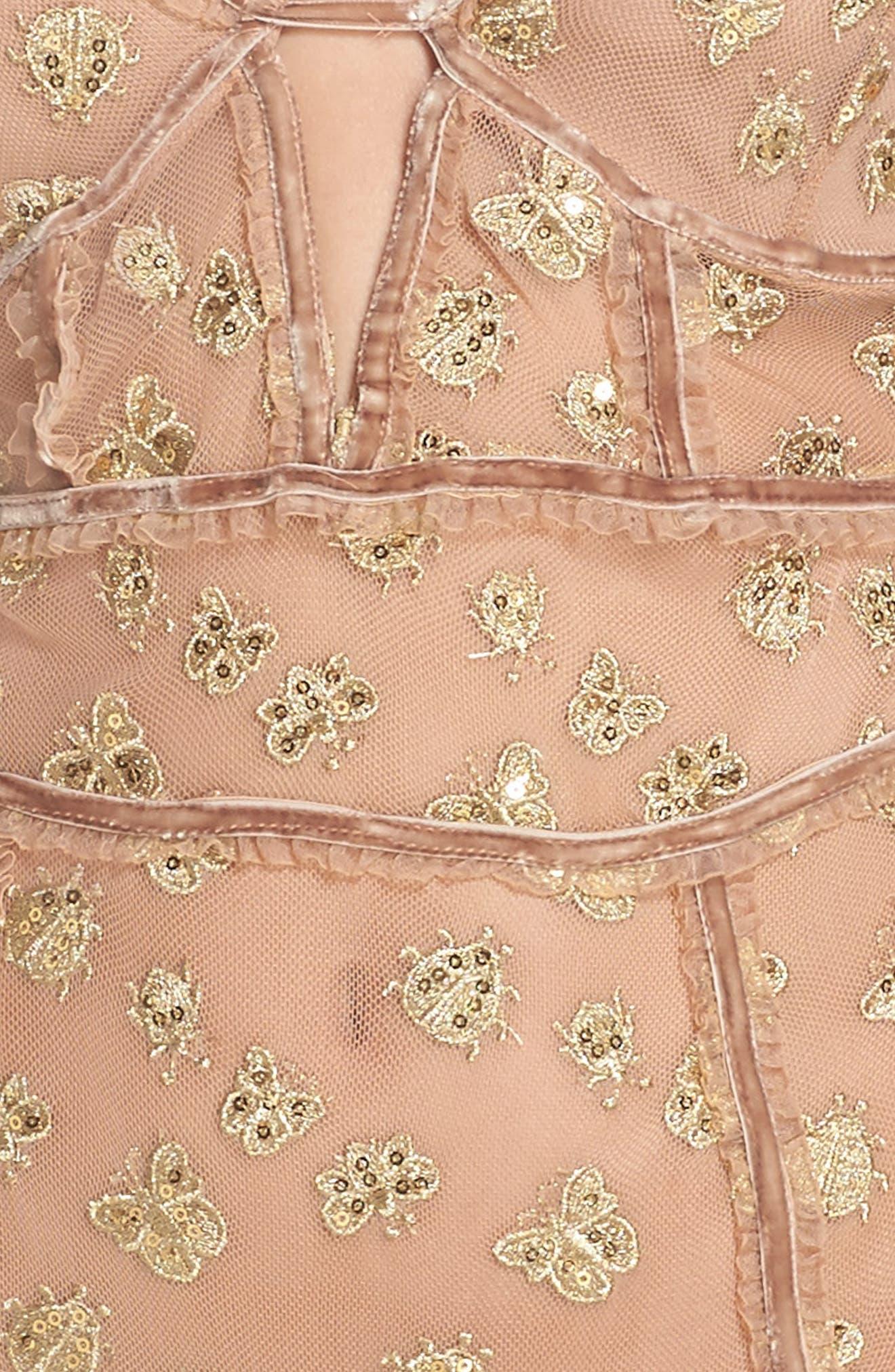 Golden Garden Embroidered Bodysuit,                             Alternate thumbnail 5, color,