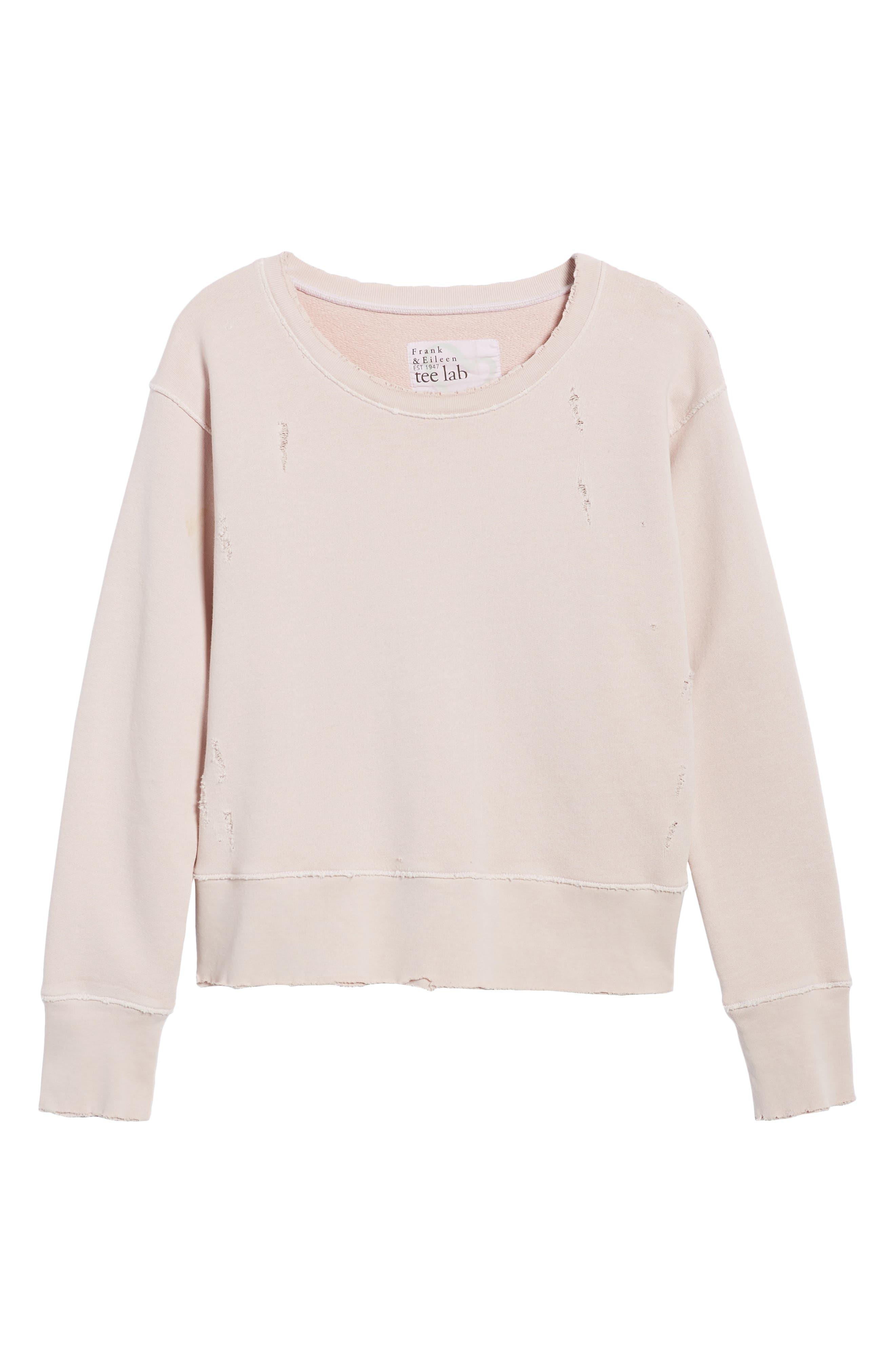 Tee Lab Cotton Sweatshirt,                             Alternate thumbnail 6, color,