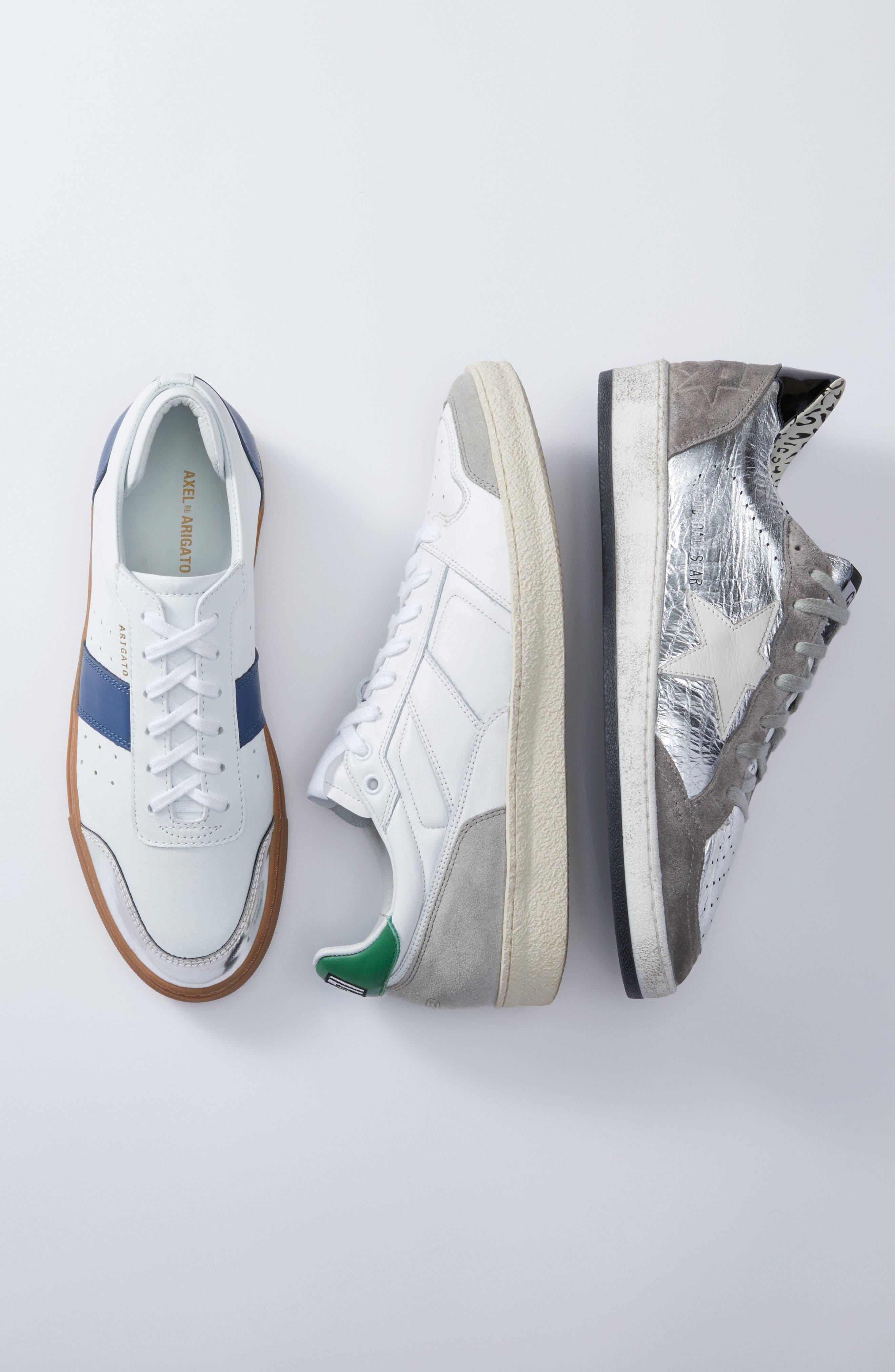 AXEL ARIGATO,                             Dunk Sneaker,                             Alternate thumbnail 8, color,                             WHITE W/ BLACK STRIPE