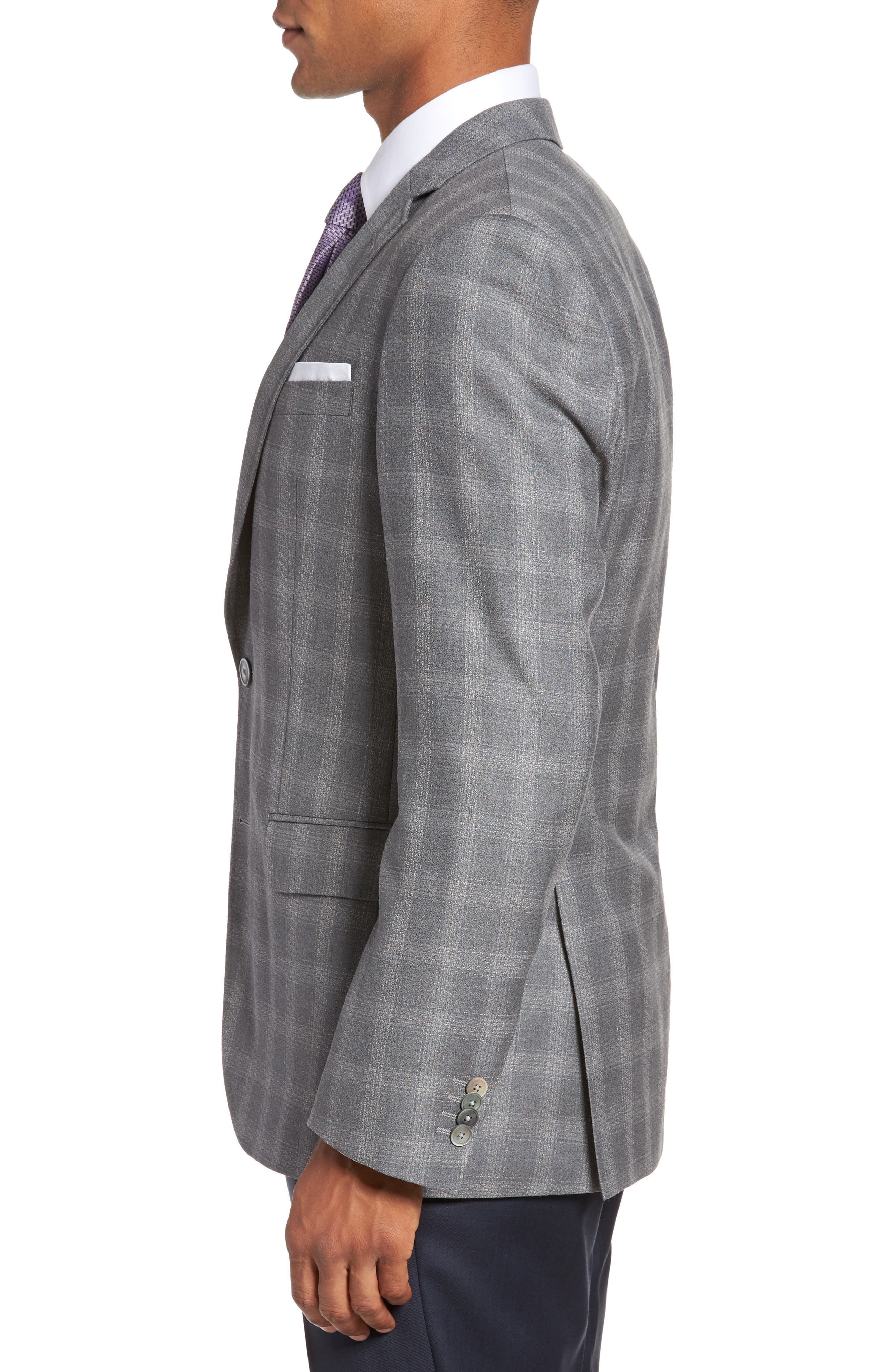 Hutsons Classic Fit Check Sport Coat,                             Alternate thumbnail 3, color,