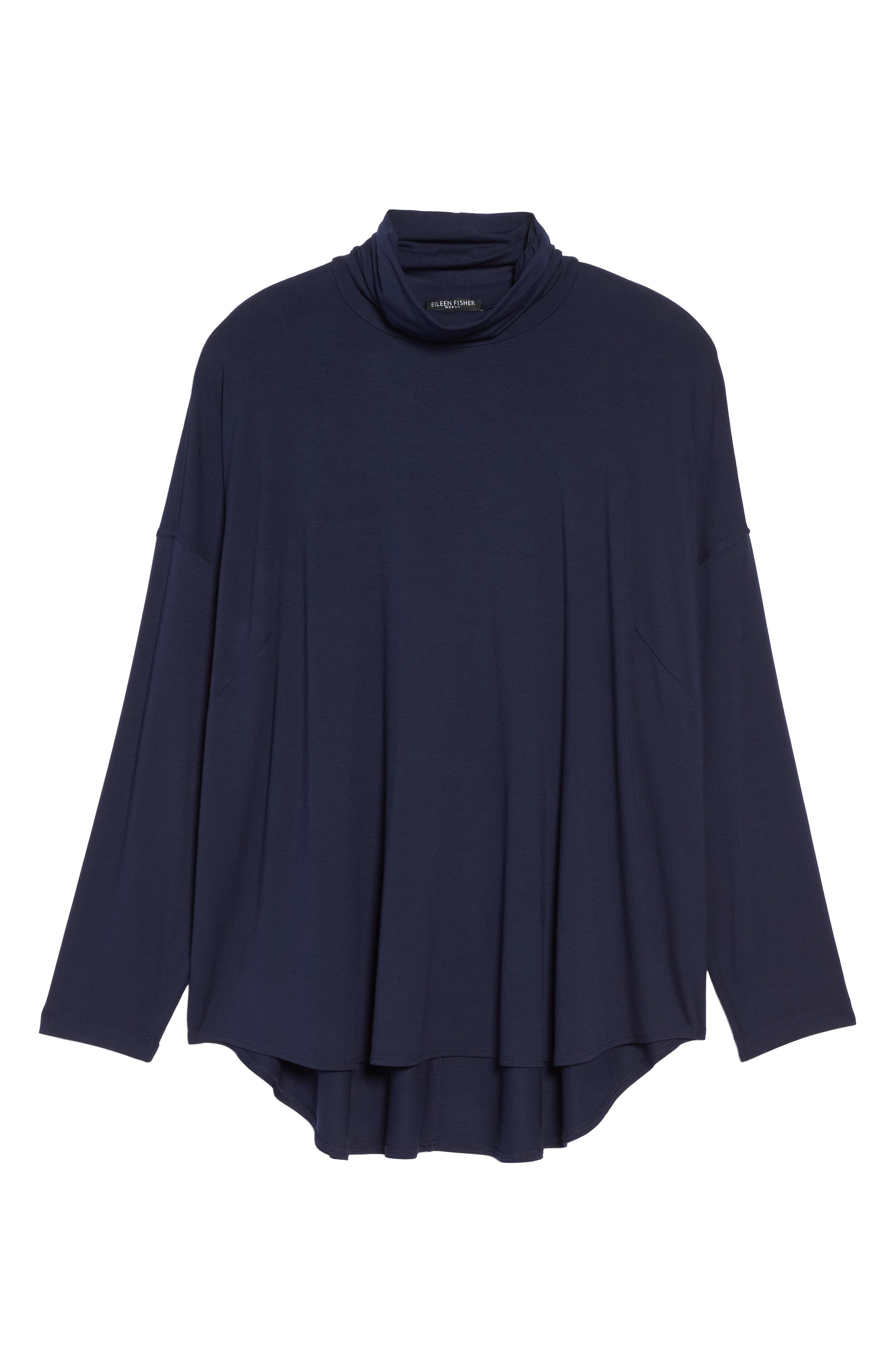 Funnel Neck Jersey Tunic,                             Alternate thumbnail 18, color,