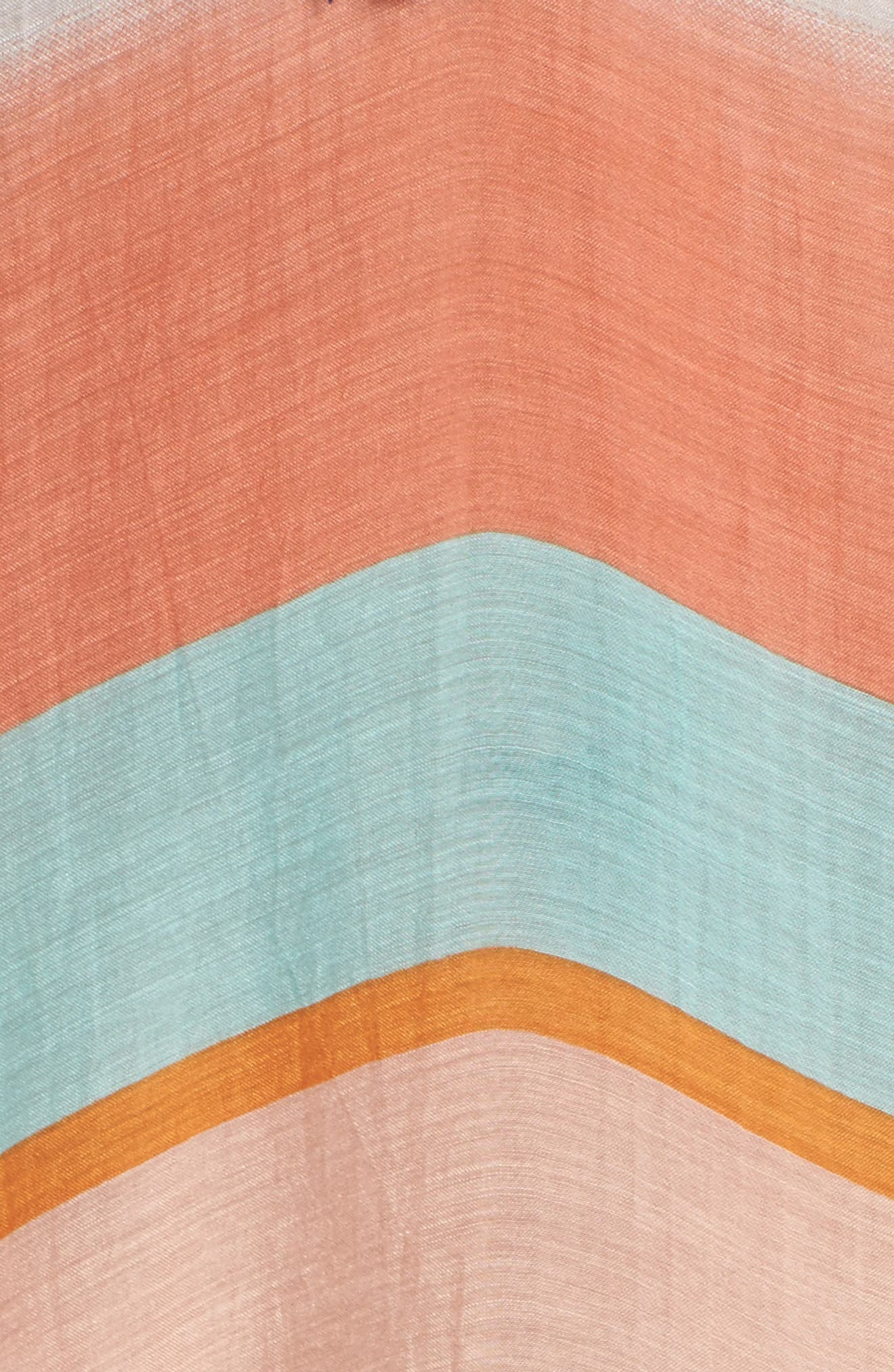 Stripe Cover-Up Caftan,                             Alternate thumbnail 5, color,                             801