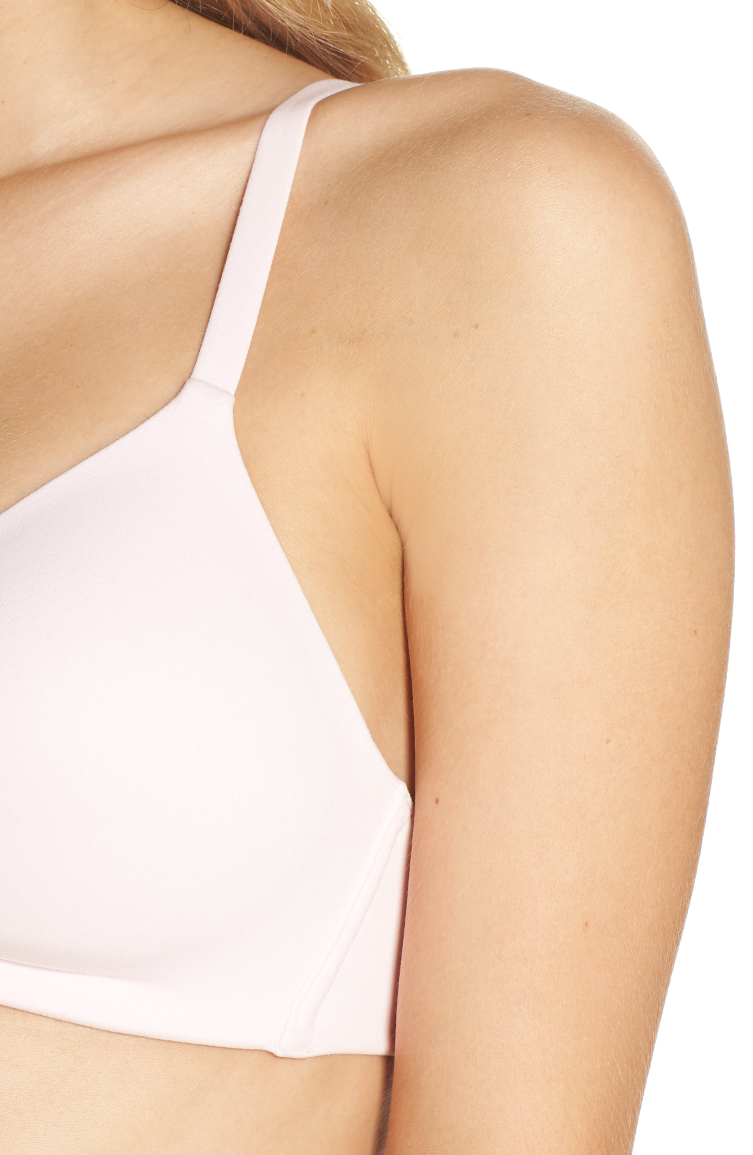 How Perfect No-Wire Contour Bra,                             Alternate thumbnail 4, color,                             BARELY PINK