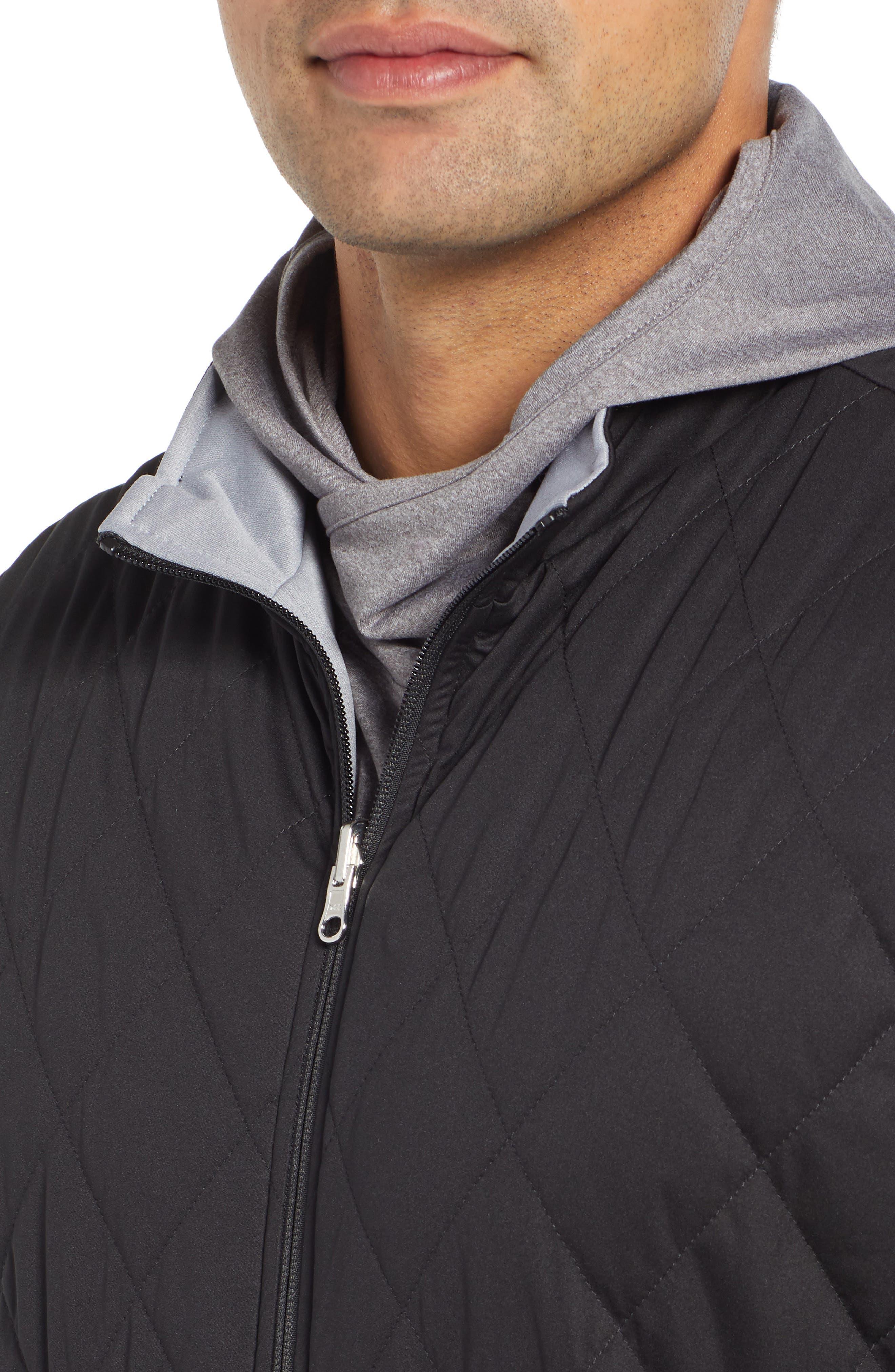 Deuce Regular Fit Reversible Quilted Vest,                             Alternate thumbnail 6, color,                             001