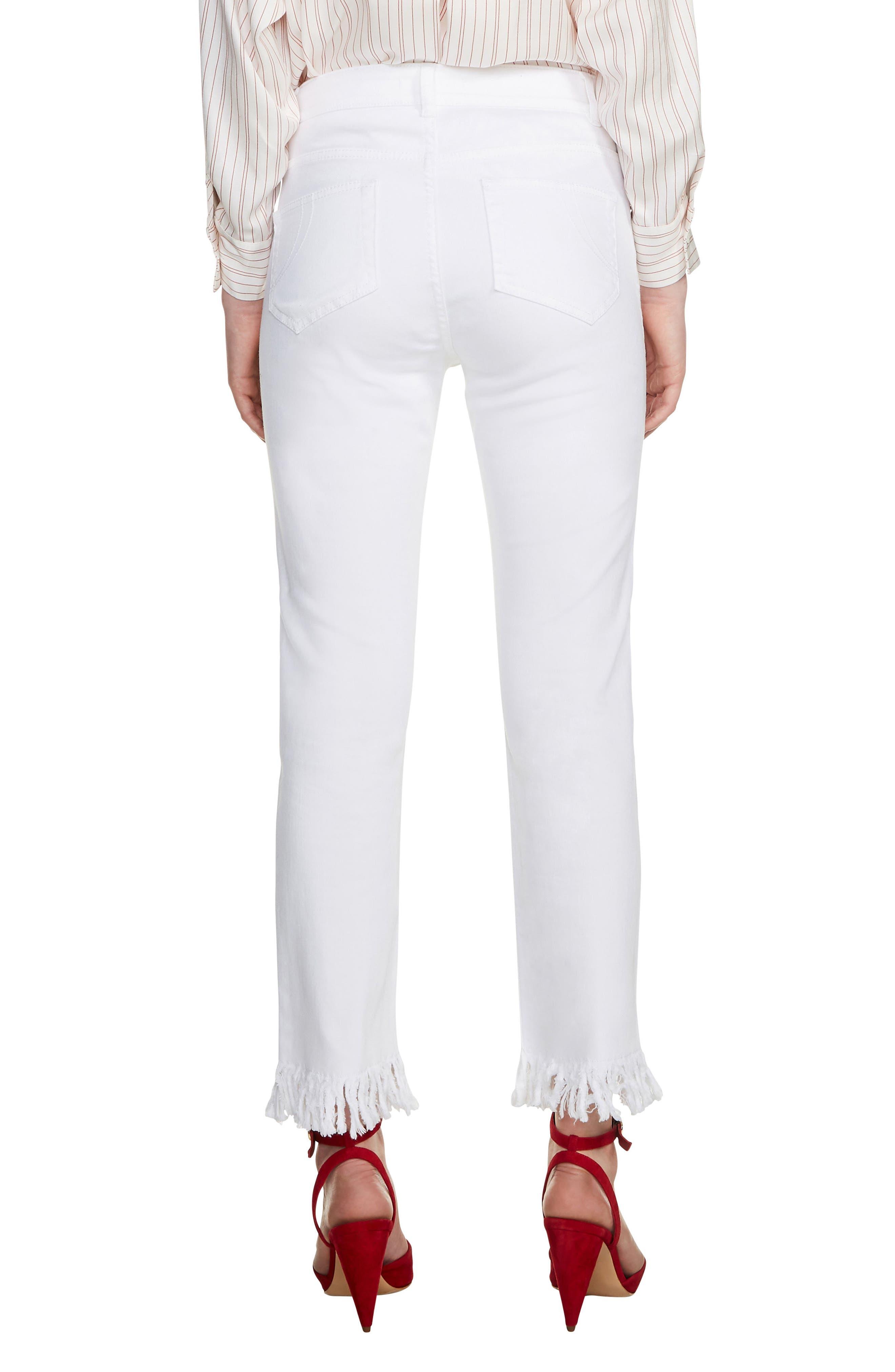 Panaki Fringe Straight Leg Jeans,                             Alternate thumbnail 2, color,                             100