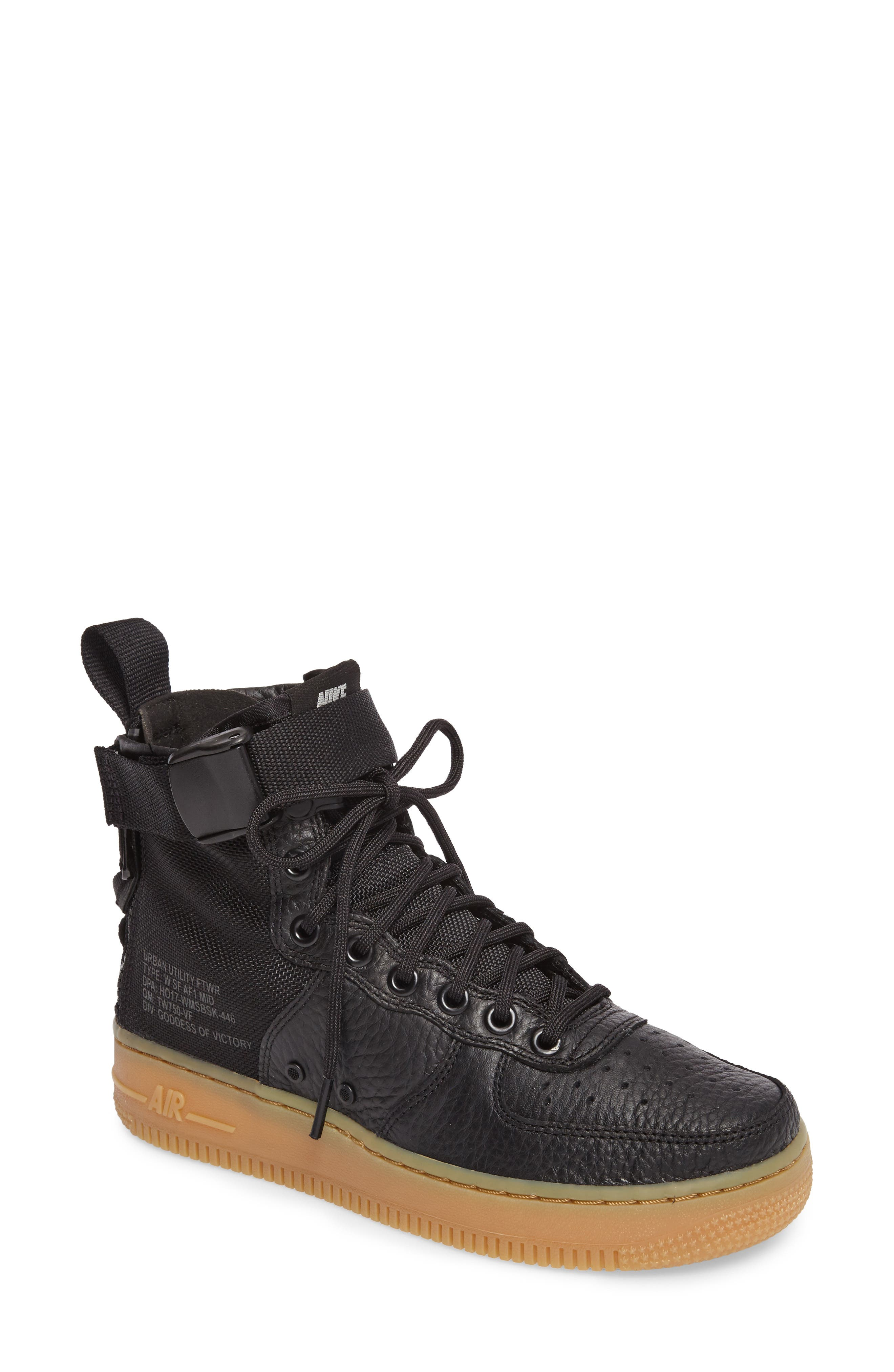SF Air Force 1 Mid Sneaker,                         Main,                         color, 002