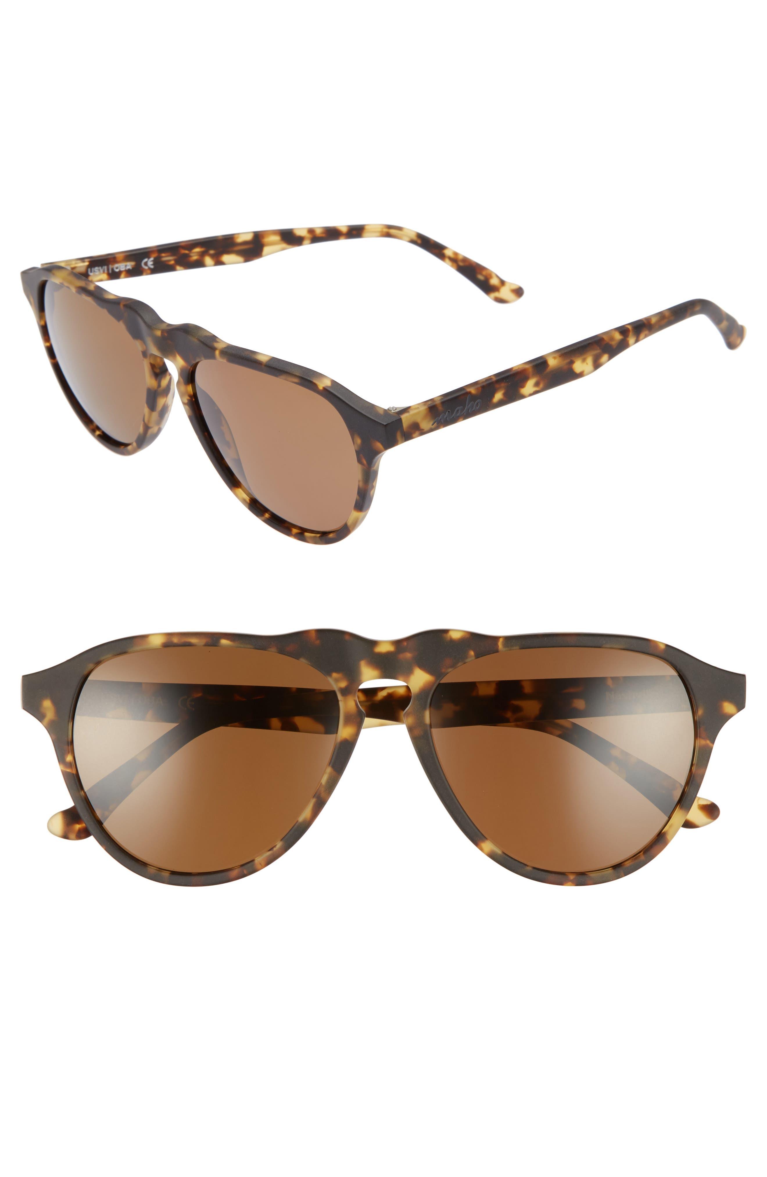Nashville 54mm Polarized Aviator Sunglasses,                         Main,                         color, BENGAL