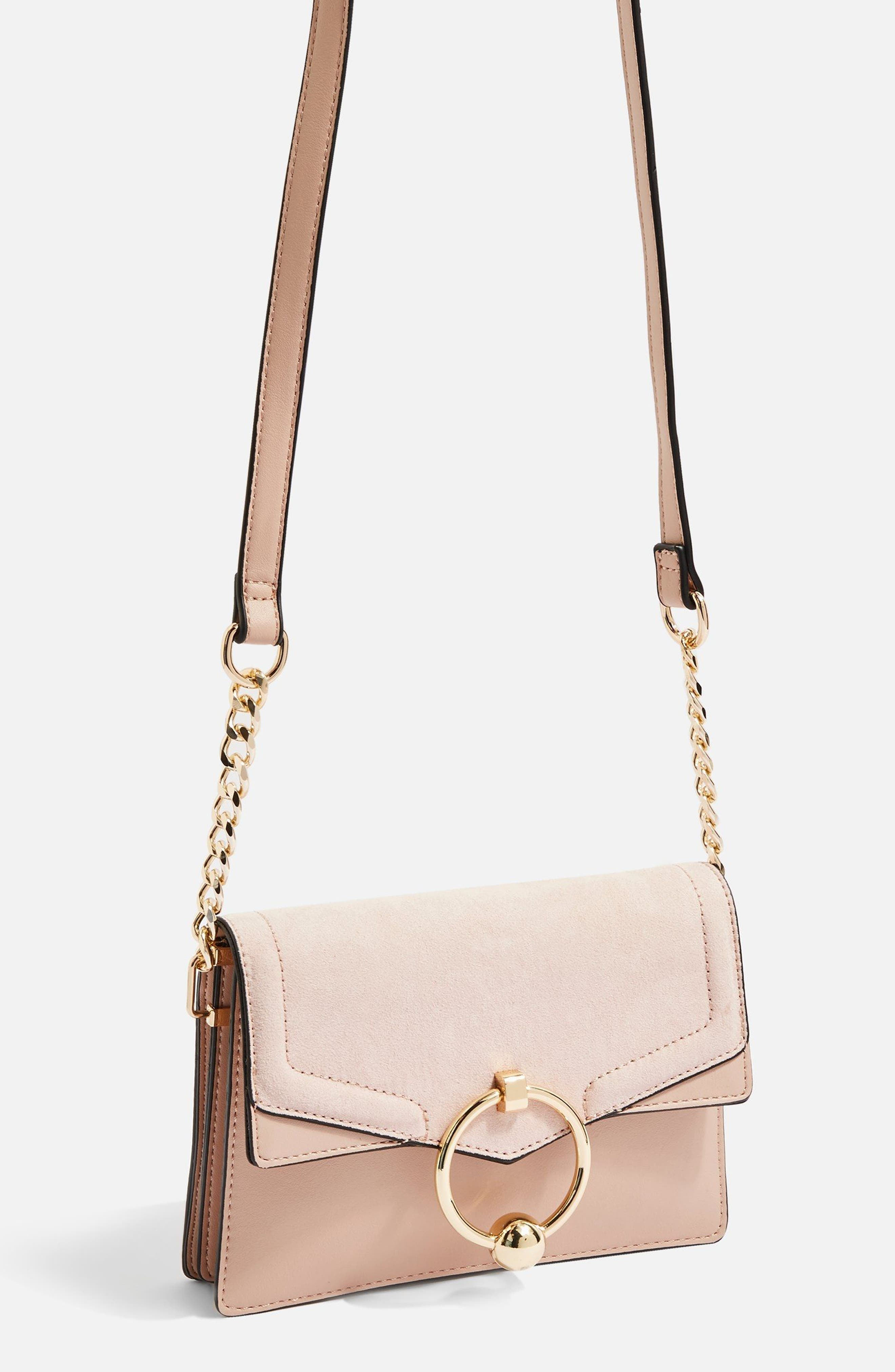 Seline Faux Leather Crossbody Bag,                             Alternate thumbnail 4, color,                             250