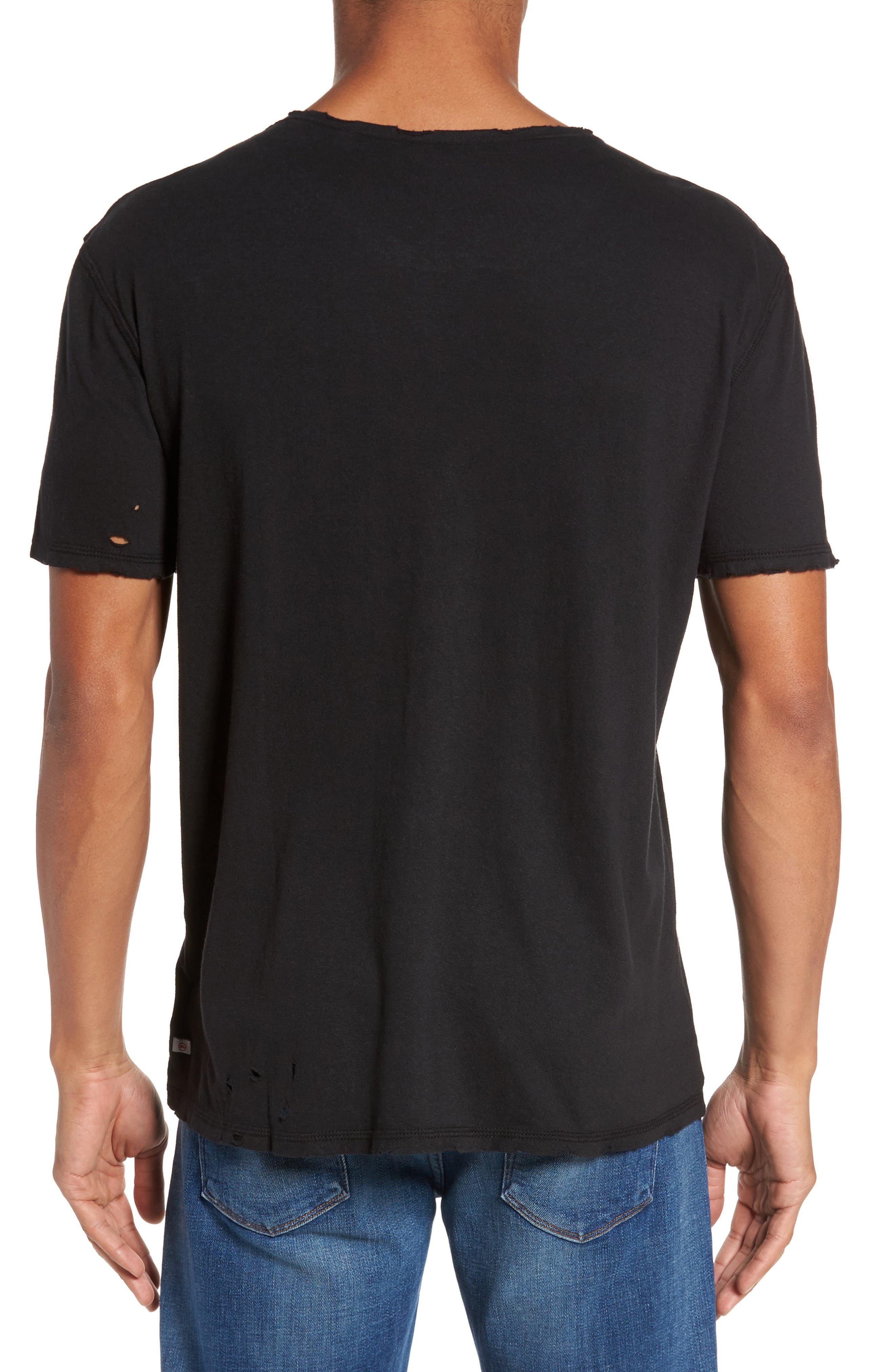 Ramsey Shredded Hem T-Shirt,                             Alternate thumbnail 2, color,                             015