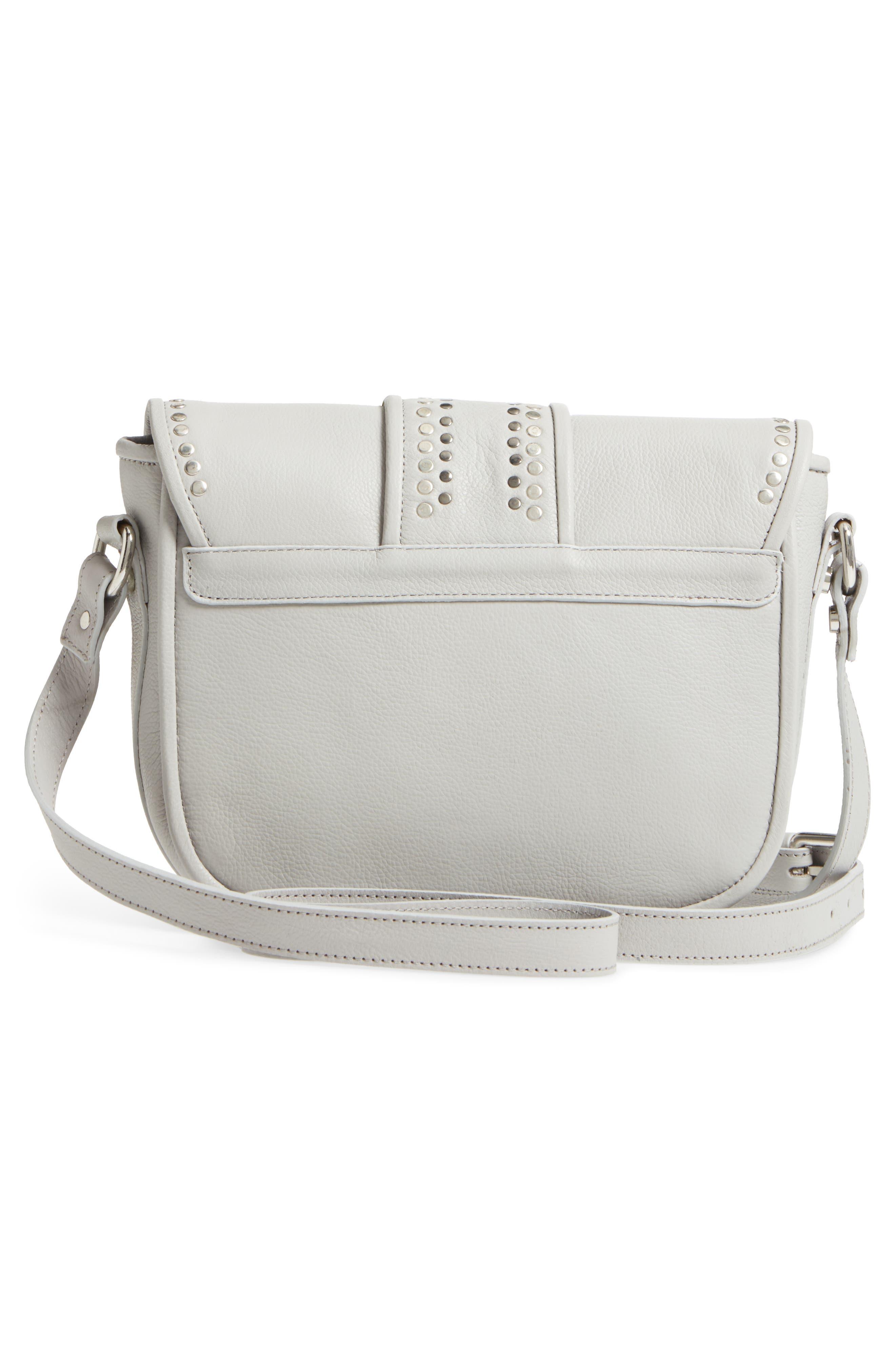 Premium Leather Studded Shoulder Bag,                             Alternate thumbnail 8, color,