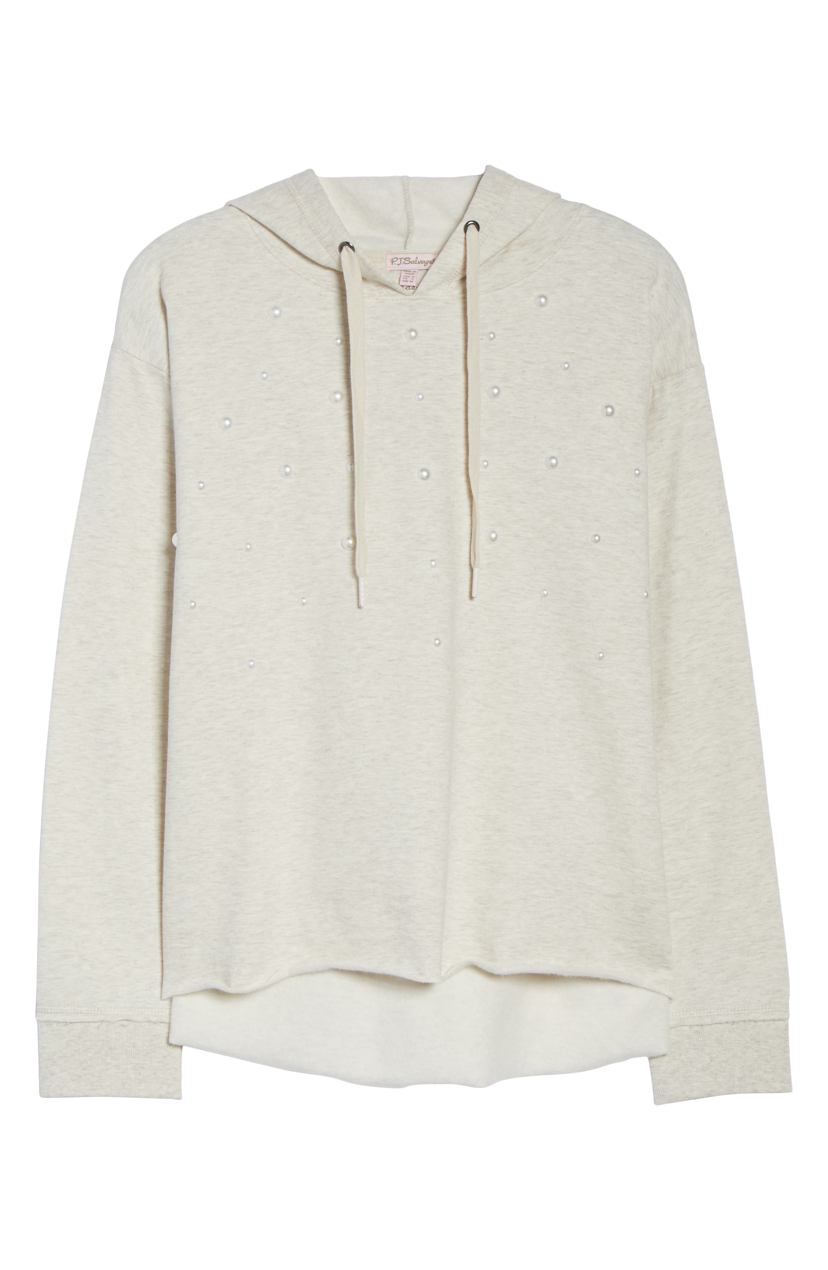 Imitation Pearl Embellished Hoodie,                             Alternate thumbnail 6, color,                             900