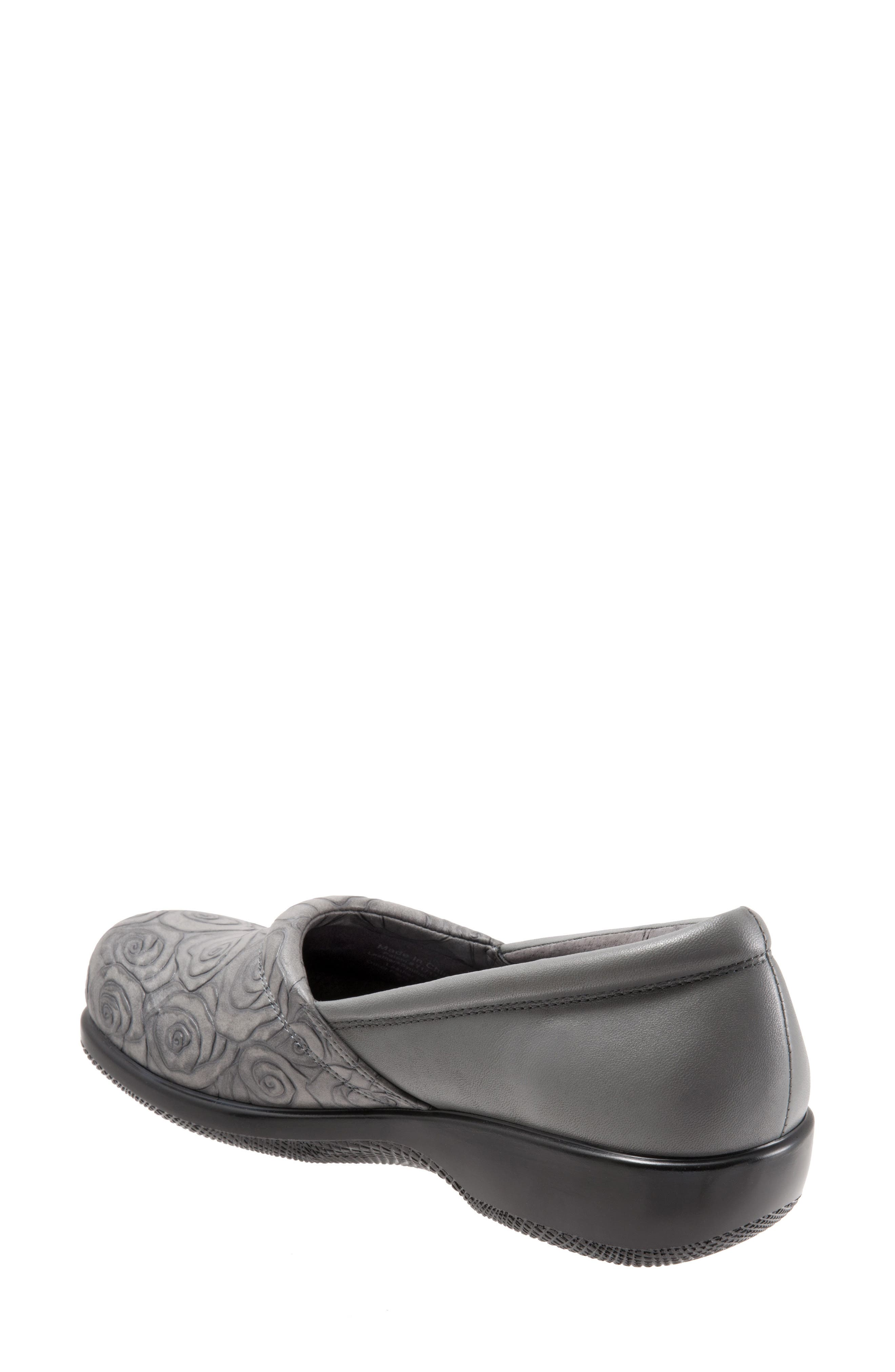 'Adora' Slip-On,                             Alternate thumbnail 4, color,                             GREY ROSE LEATHER