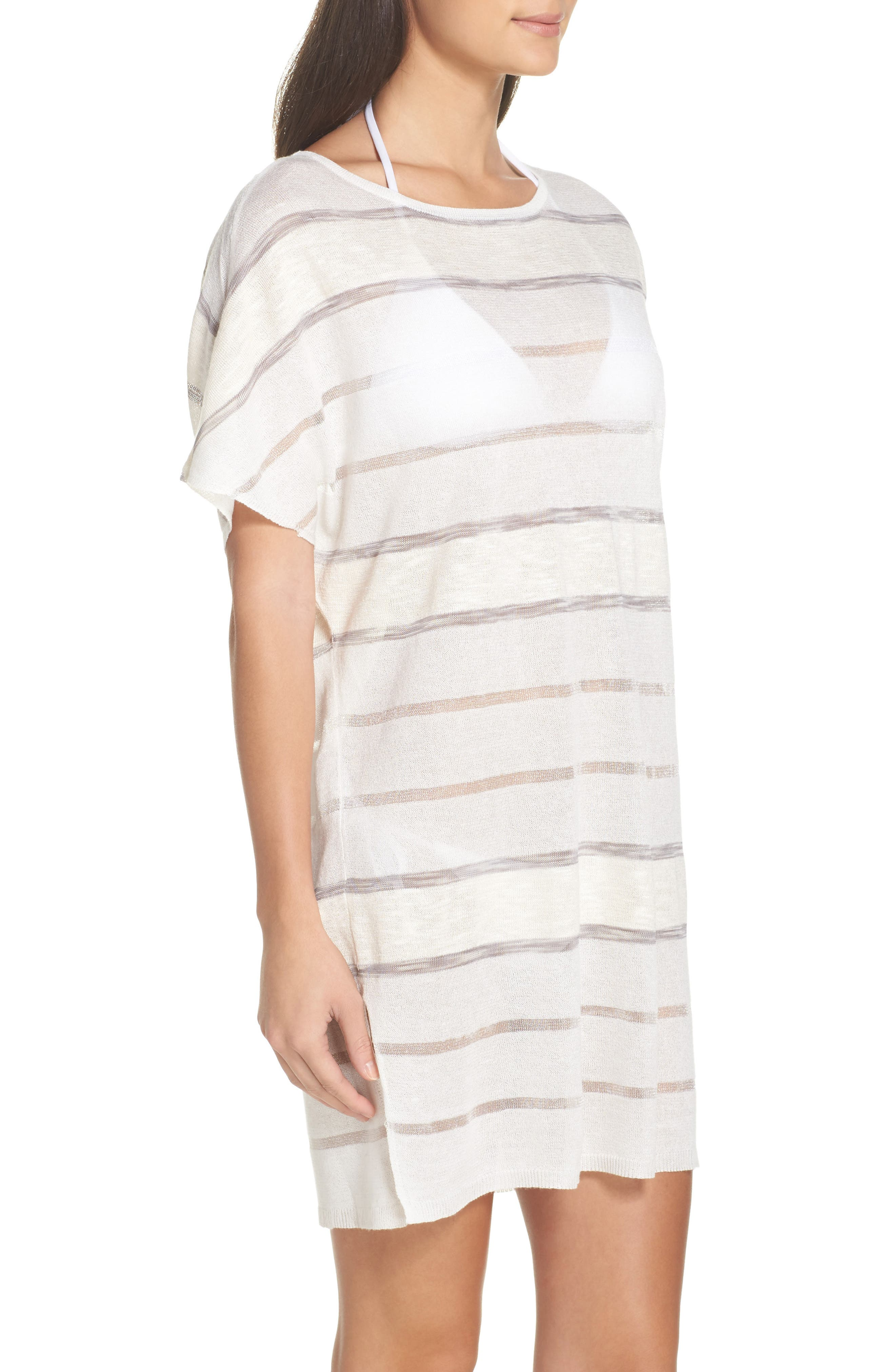 Bay Breeze Cover-Up Tunic,                             Alternate thumbnail 3, color,                             100