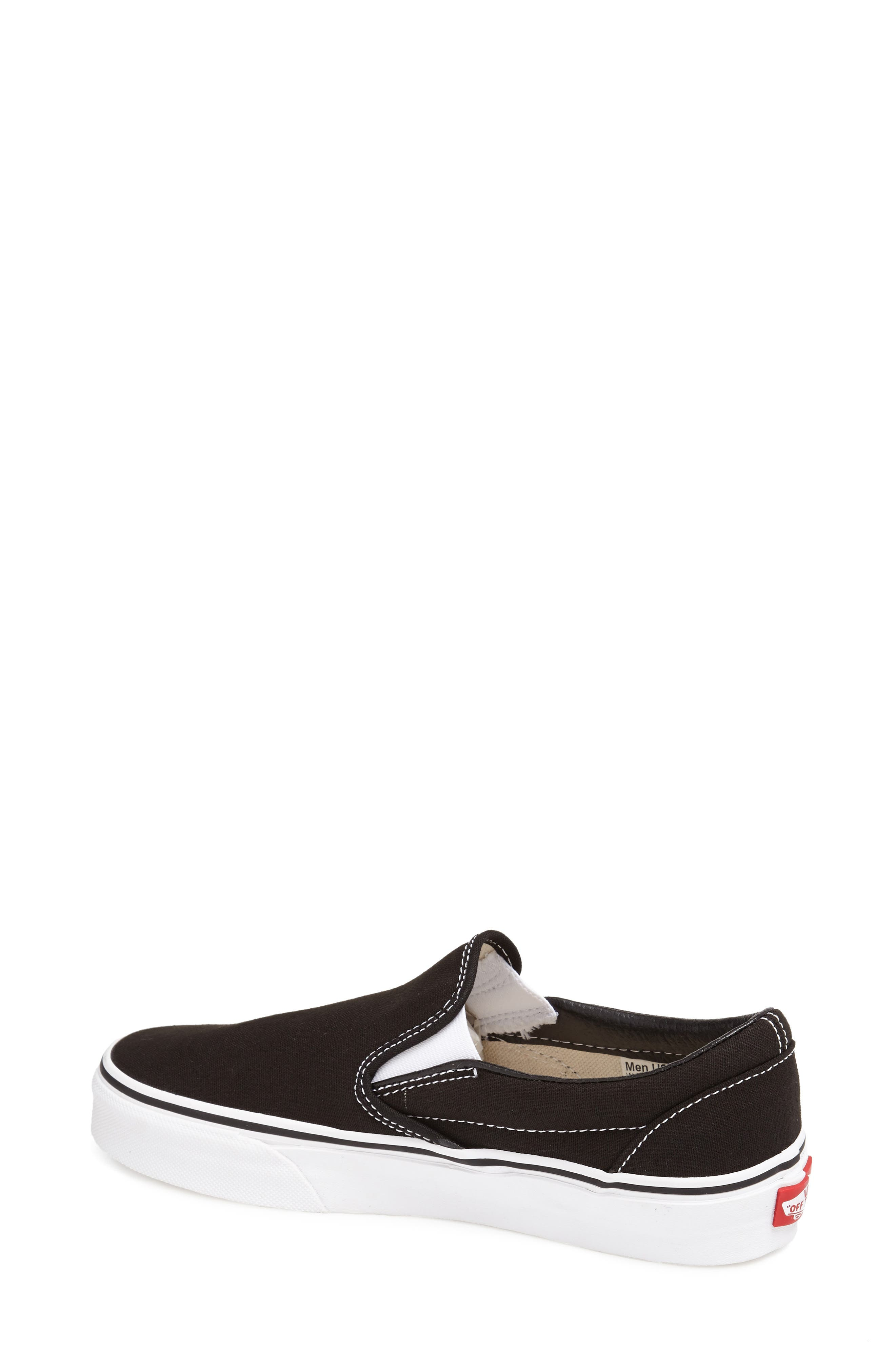 Classic Slip-On Sneaker,                             Alternate thumbnail 2, color,                             BLACK