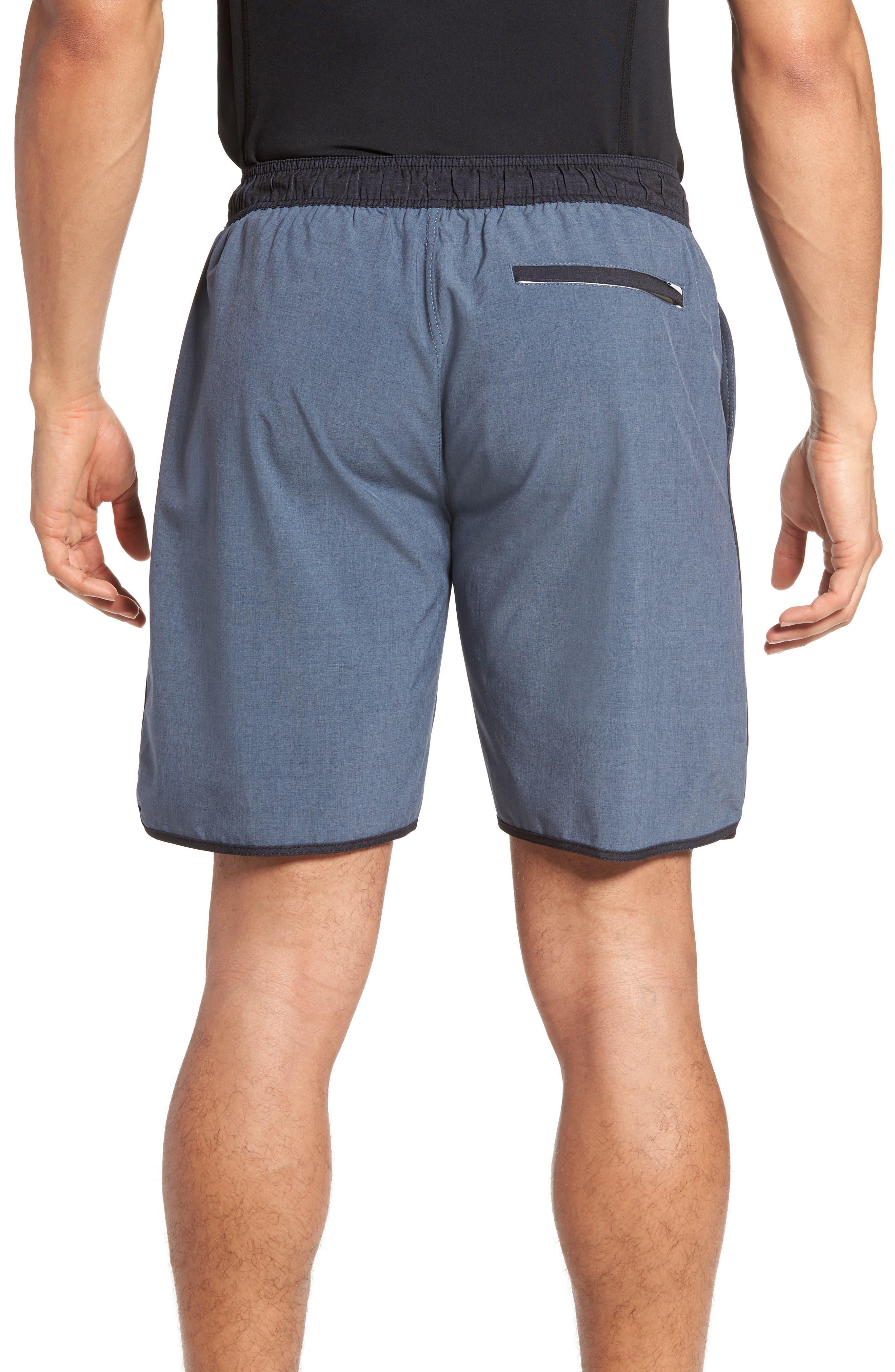 Banks Performance Hybrid Shorts,                             Alternate thumbnail 2, color,                             AZURE LINEN TEXTURE