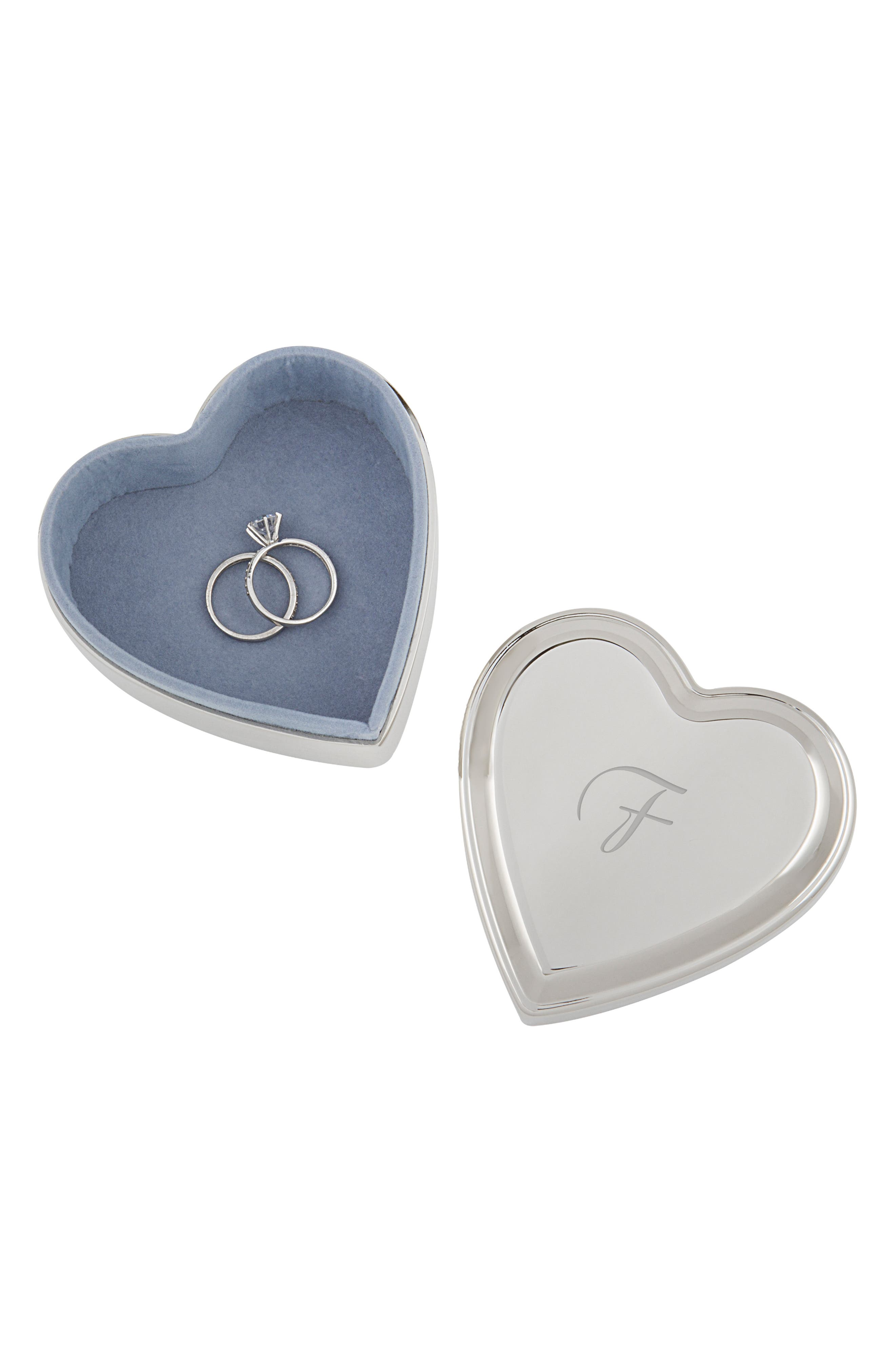 Cathys Concepts Monogram Heart Keepsake Box,                             Alternate thumbnail 5, color,                             BLANK
