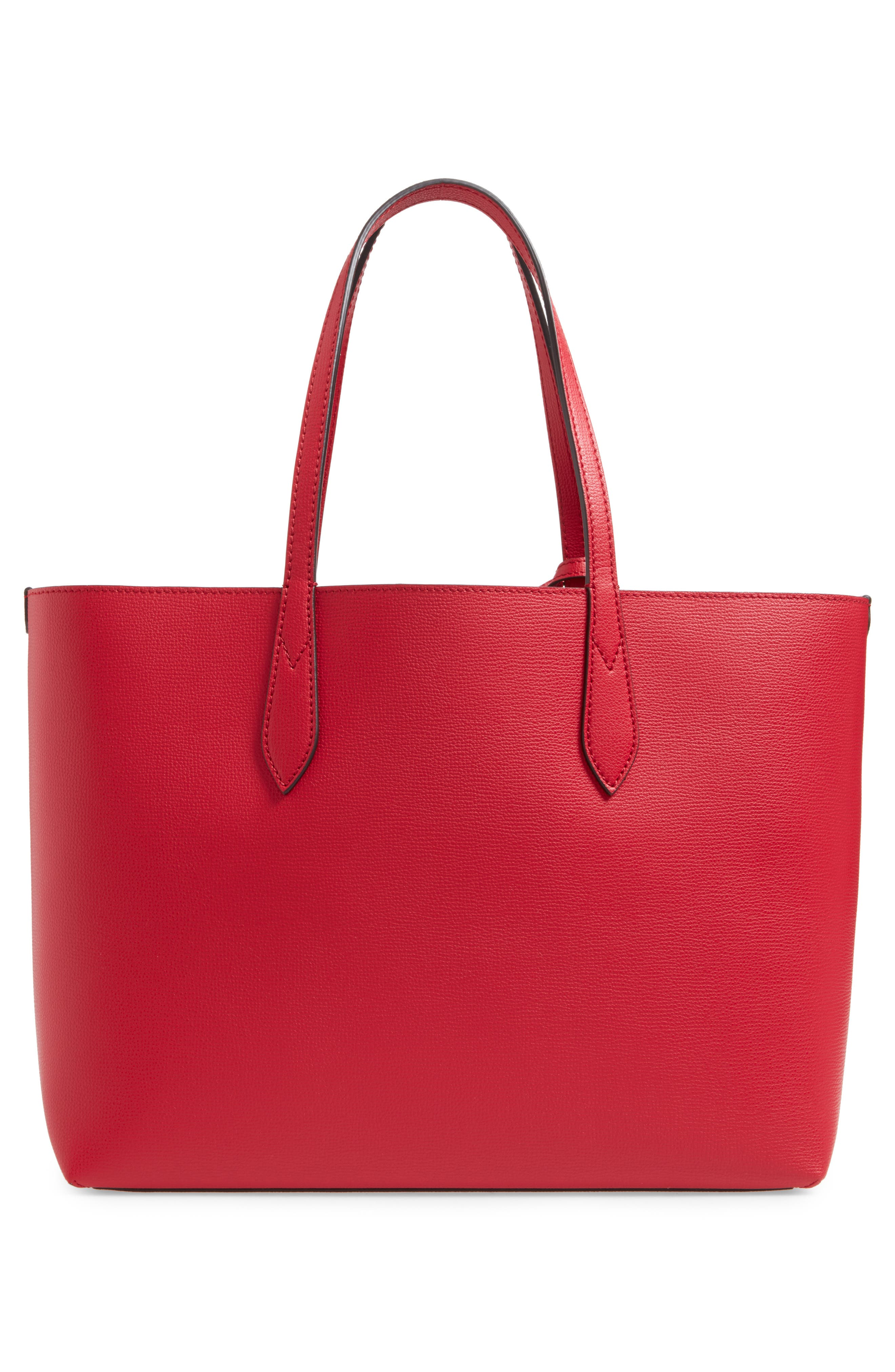 Reversible Leather Tote,                             Alternate thumbnail 3, color,                             613