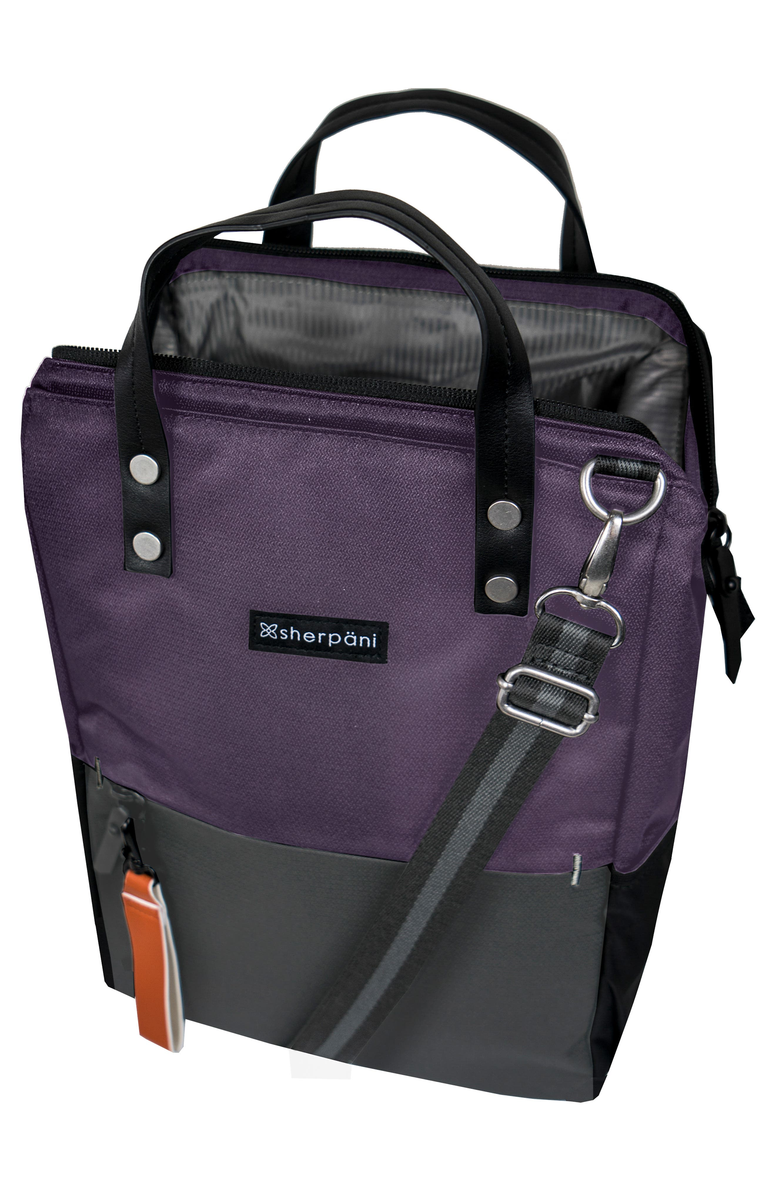Dispatch Water Resistant RFID Pocket Convertible Backpack,                             Alternate thumbnail 3, color,                             DAHLIA/ FLINT