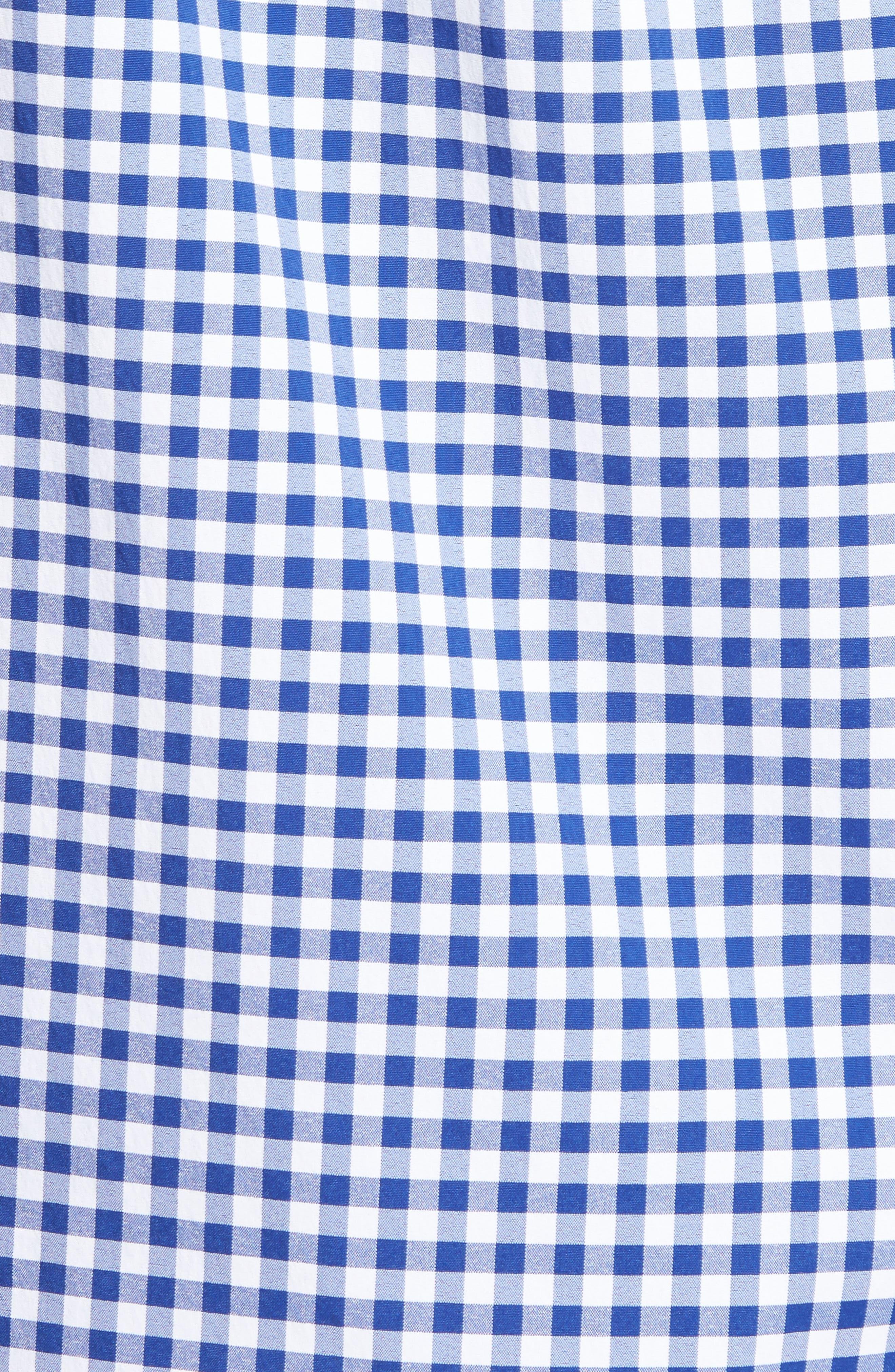 Ferndale Tucker Classic Fit Gingham Sport Shirt,                             Alternate thumbnail 5, color,                             461