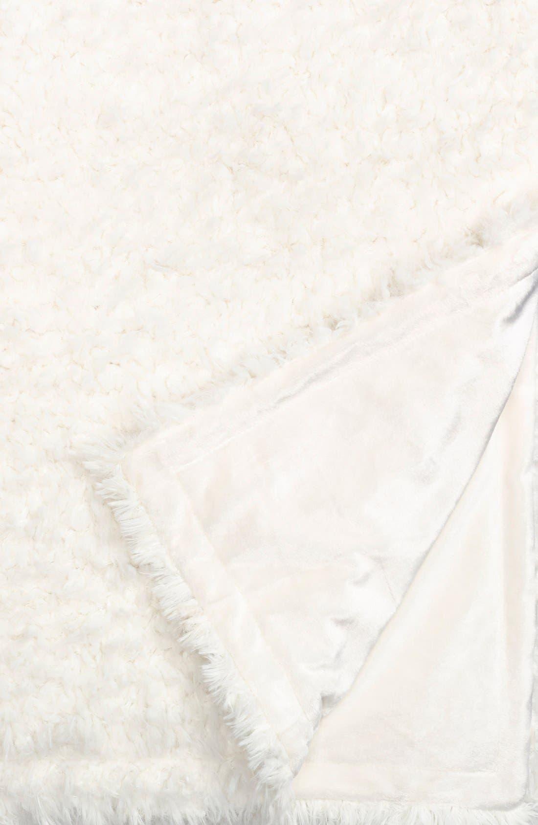 'Shaggy Plush' Faux Fur Blanket,                             Alternate thumbnail 3, color,                             900