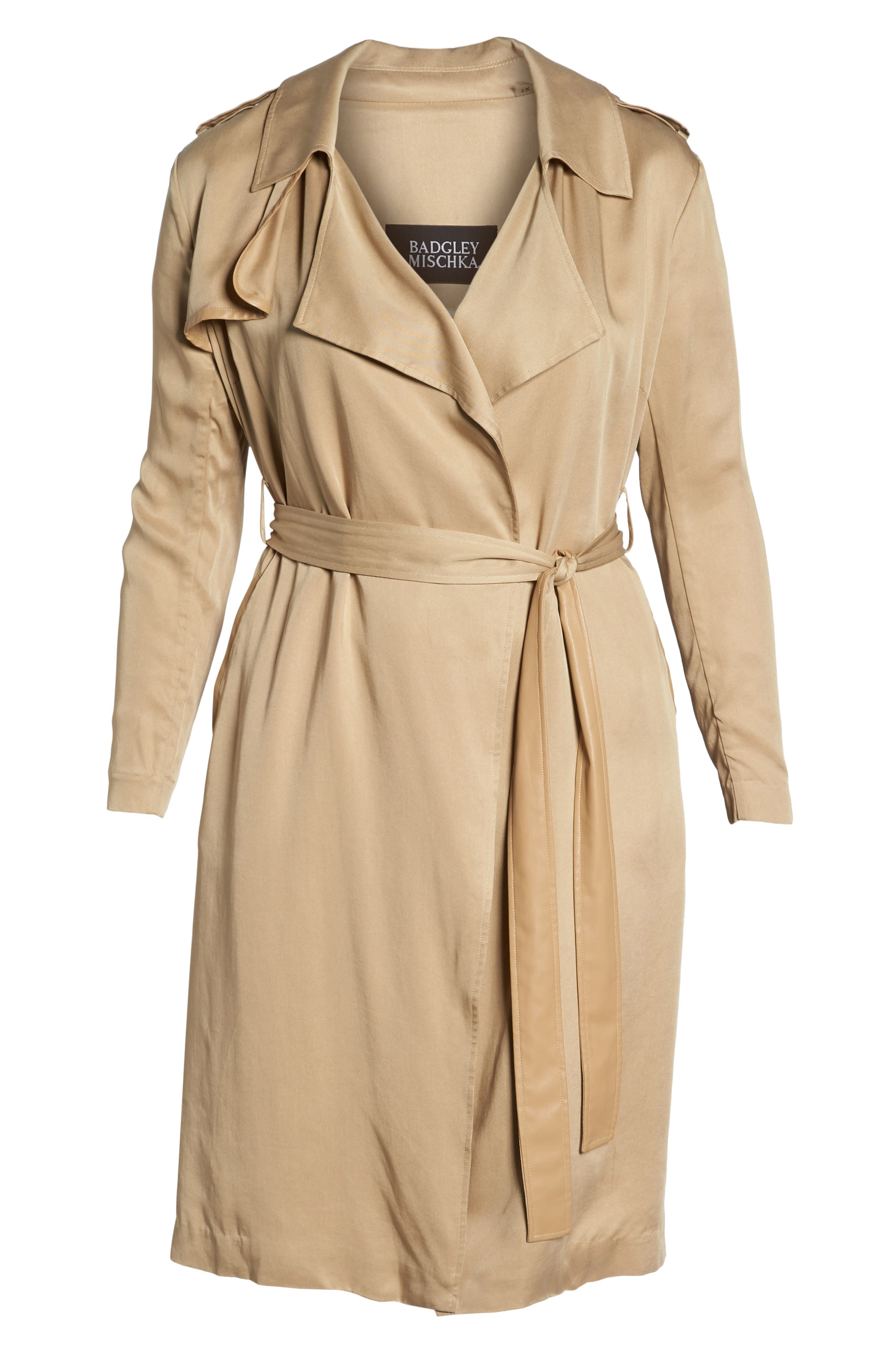 Angelina Trench Coat,                             Alternate thumbnail 6, color,                             SAND